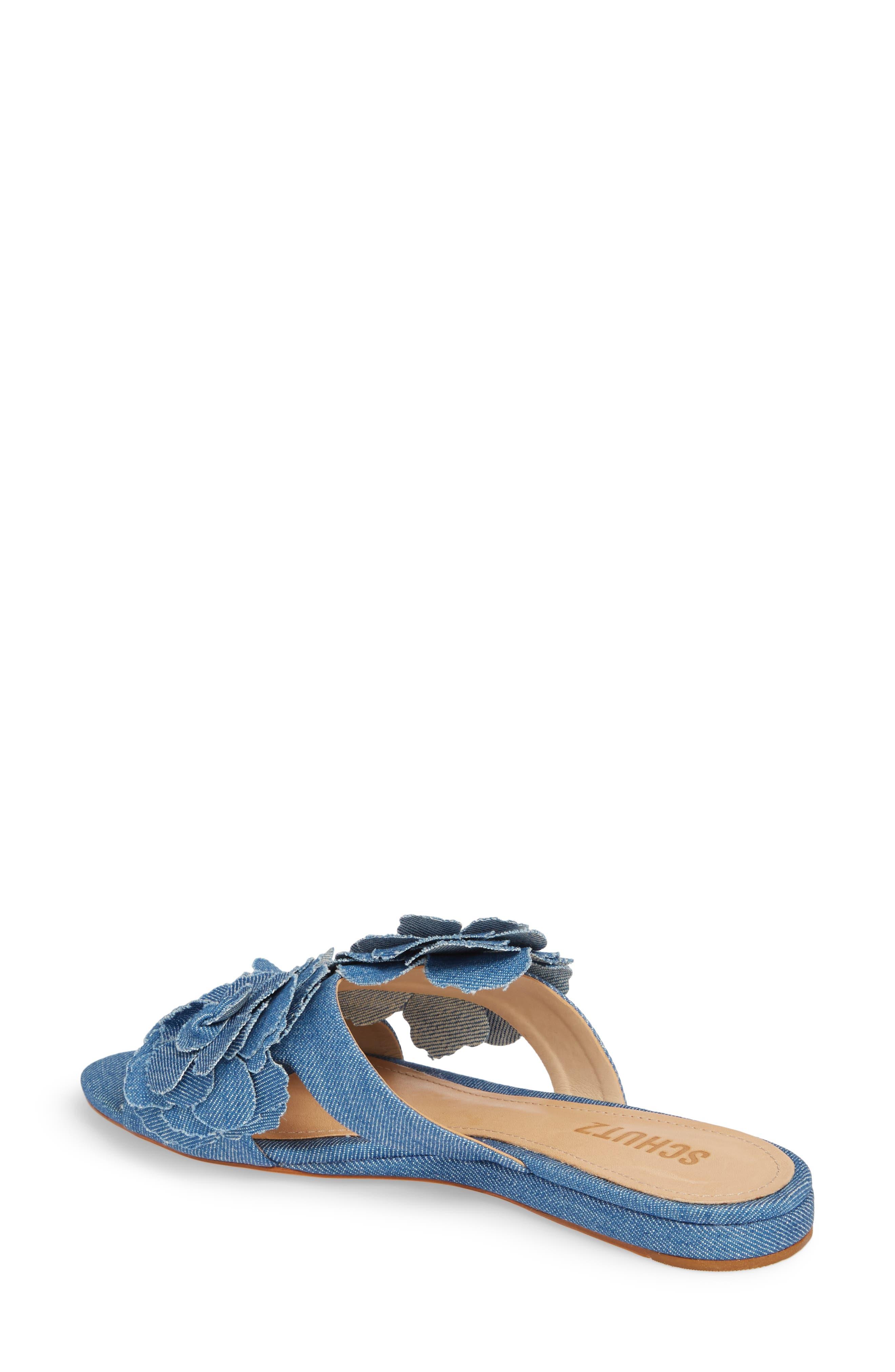 Ilaria Flower Sandal,                             Alternate thumbnail 2, color,                             LIGHT BLUE