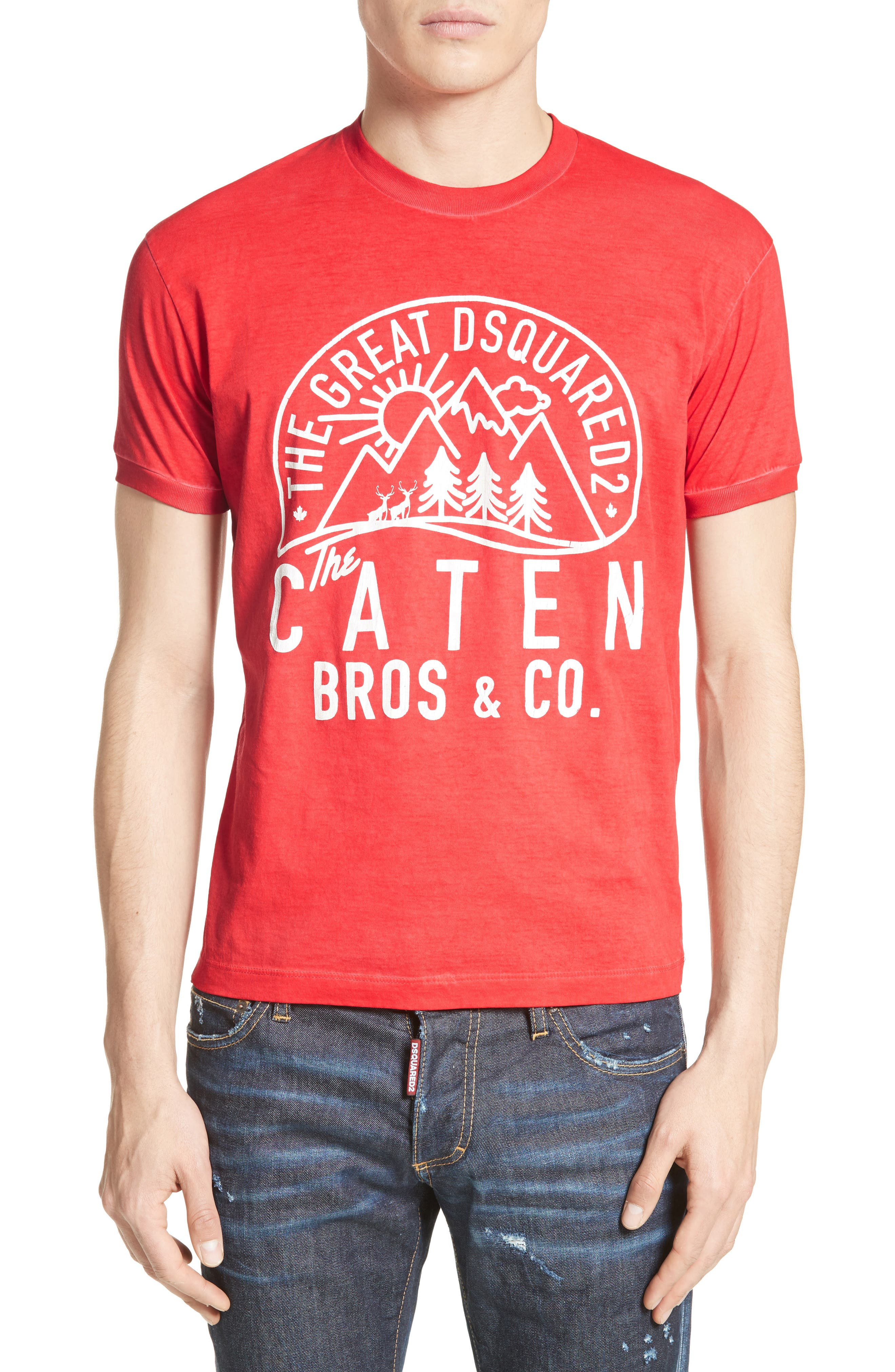 Mountain Logo Graphic T-Shirt,                             Main thumbnail 1, color,                             600