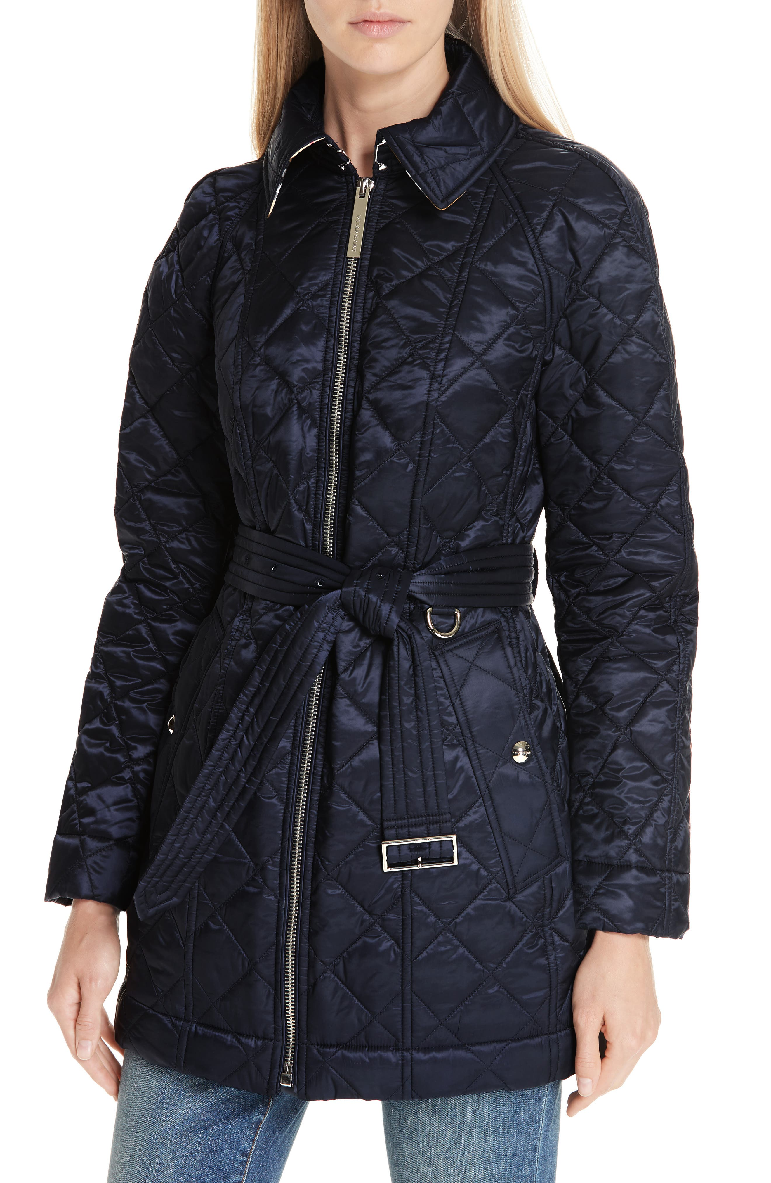 Baughton 18 Quilted Coat,                             Alternate thumbnail 4, color,                             INK