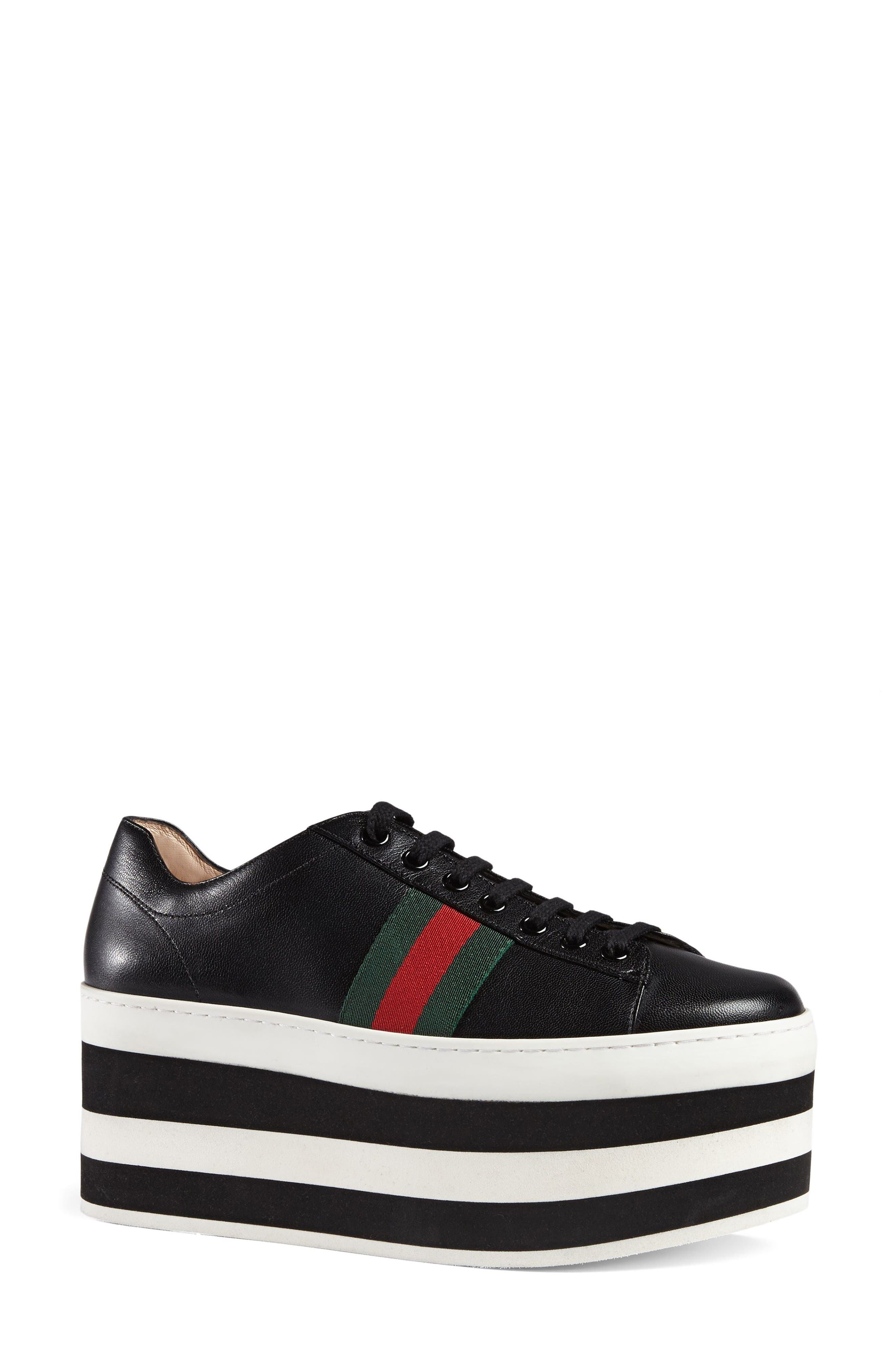 Peggy Flatform Sneaker,                             Alternate thumbnail 3, color,                             001