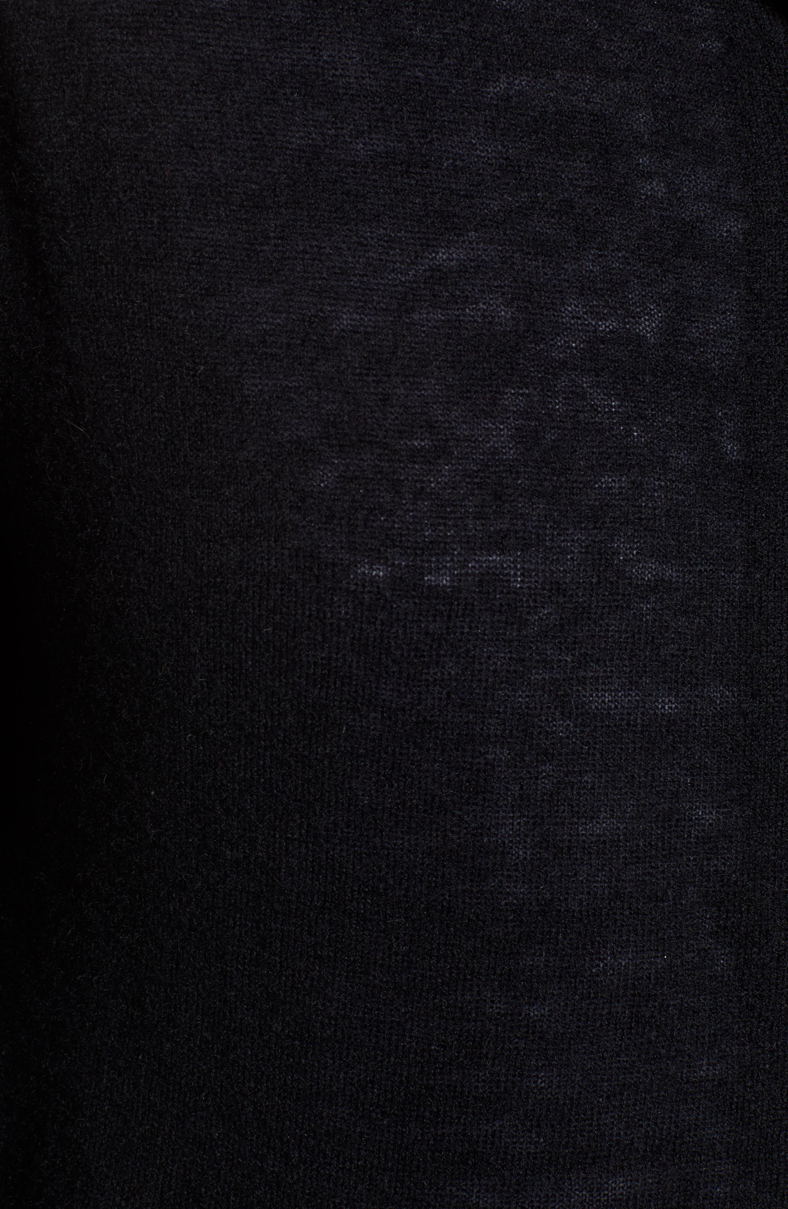 ZADIG & VOLTAIRE,                             Sixtine Bis Cashmere Zip Sweater Hoodie,                             Alternate thumbnail 5, color,                             001