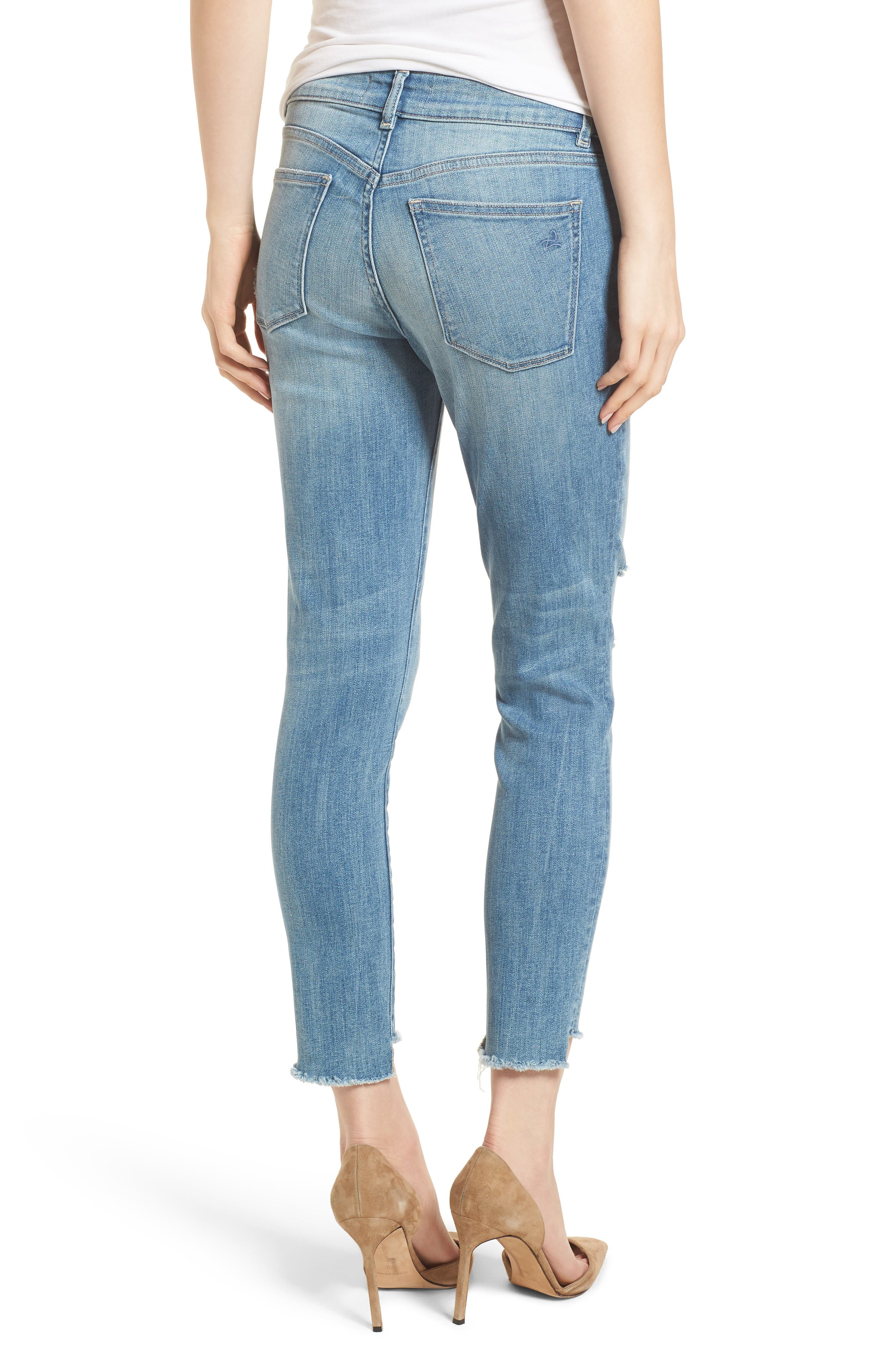 Florence Instasculpt Ripped Crop Skinny Jeans,                             Alternate thumbnail 2, color,                             429