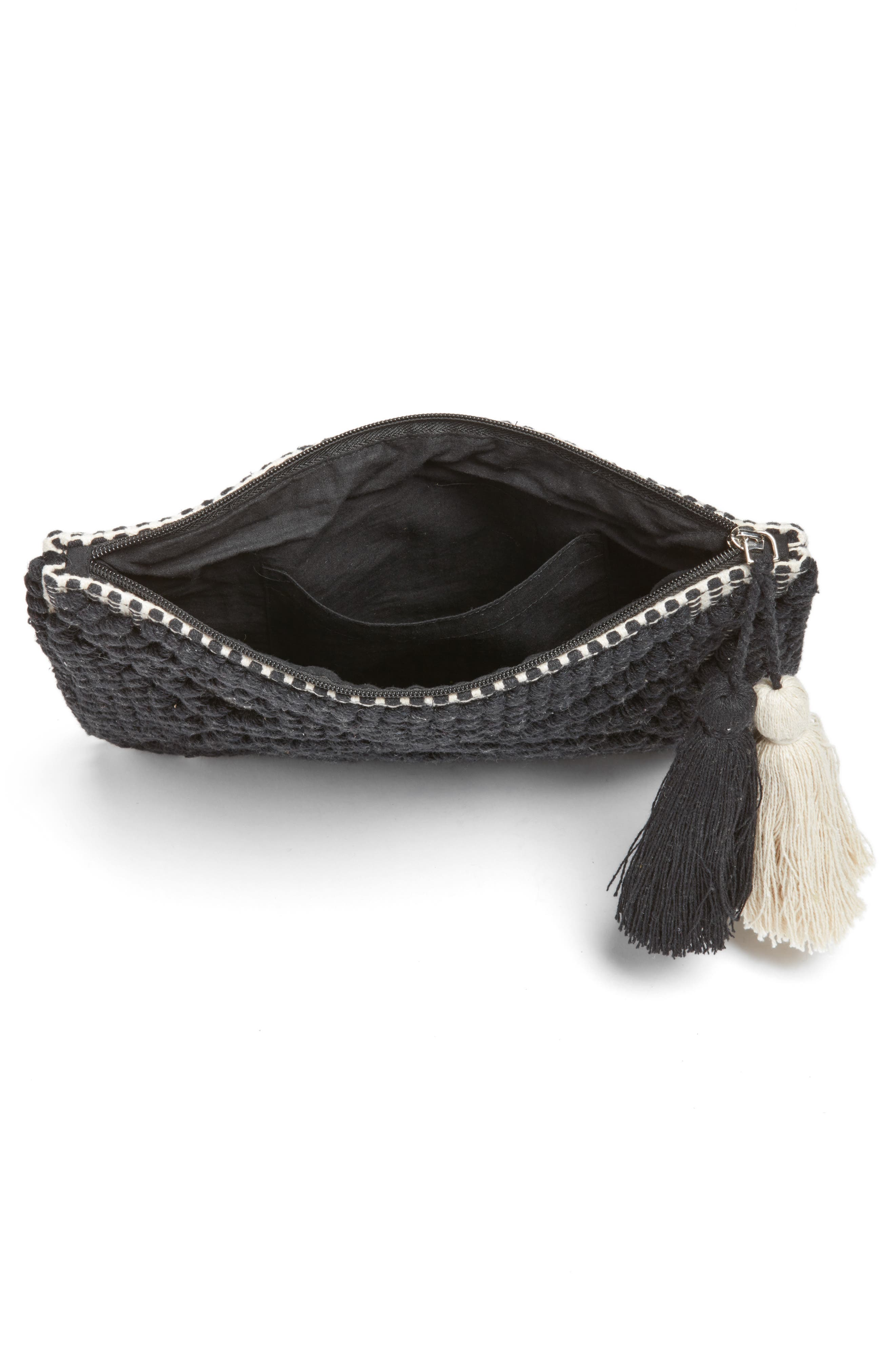 Palisades Tasseled Woven Clutch,                             Alternate thumbnail 22, color,