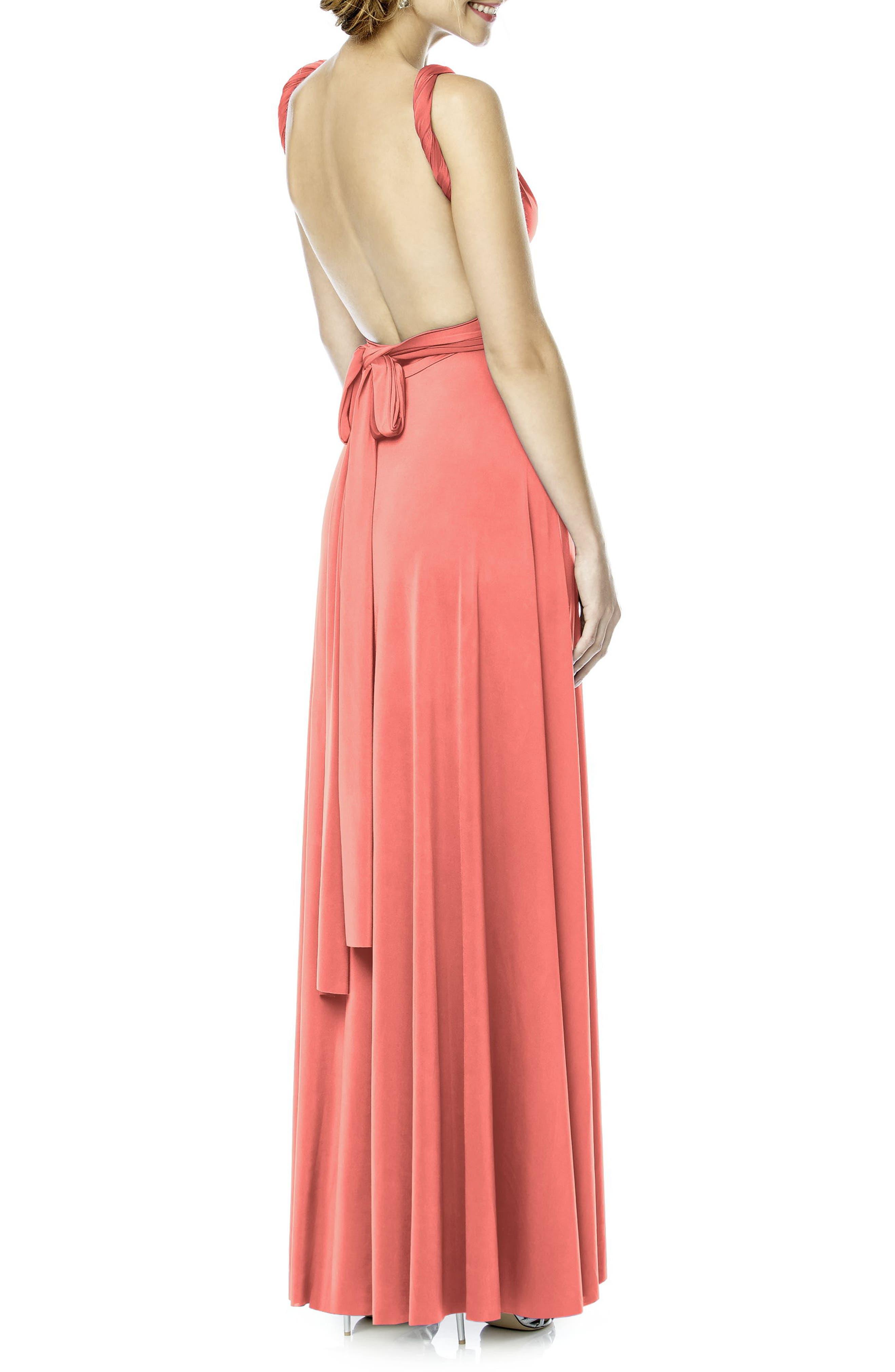 Convertible Wrap Tie Surplice Jersey Gown,                             Alternate thumbnail 31, color,