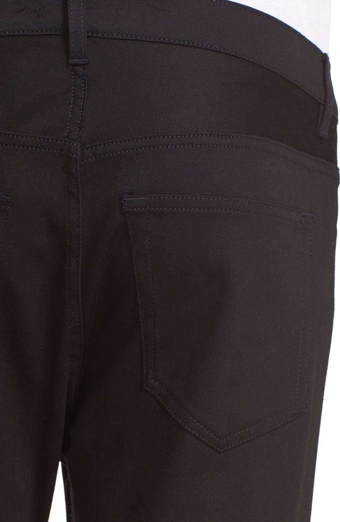 ACNE STUDIOS,                             Town Straight Leg Jeans,                             Alternate thumbnail 4, color,                             001