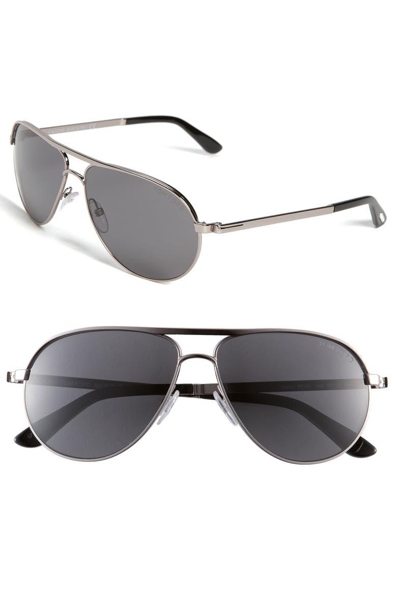b8d3b80f8a Tom Ford  Marko  58mm Metal Aviator Sunglasses
