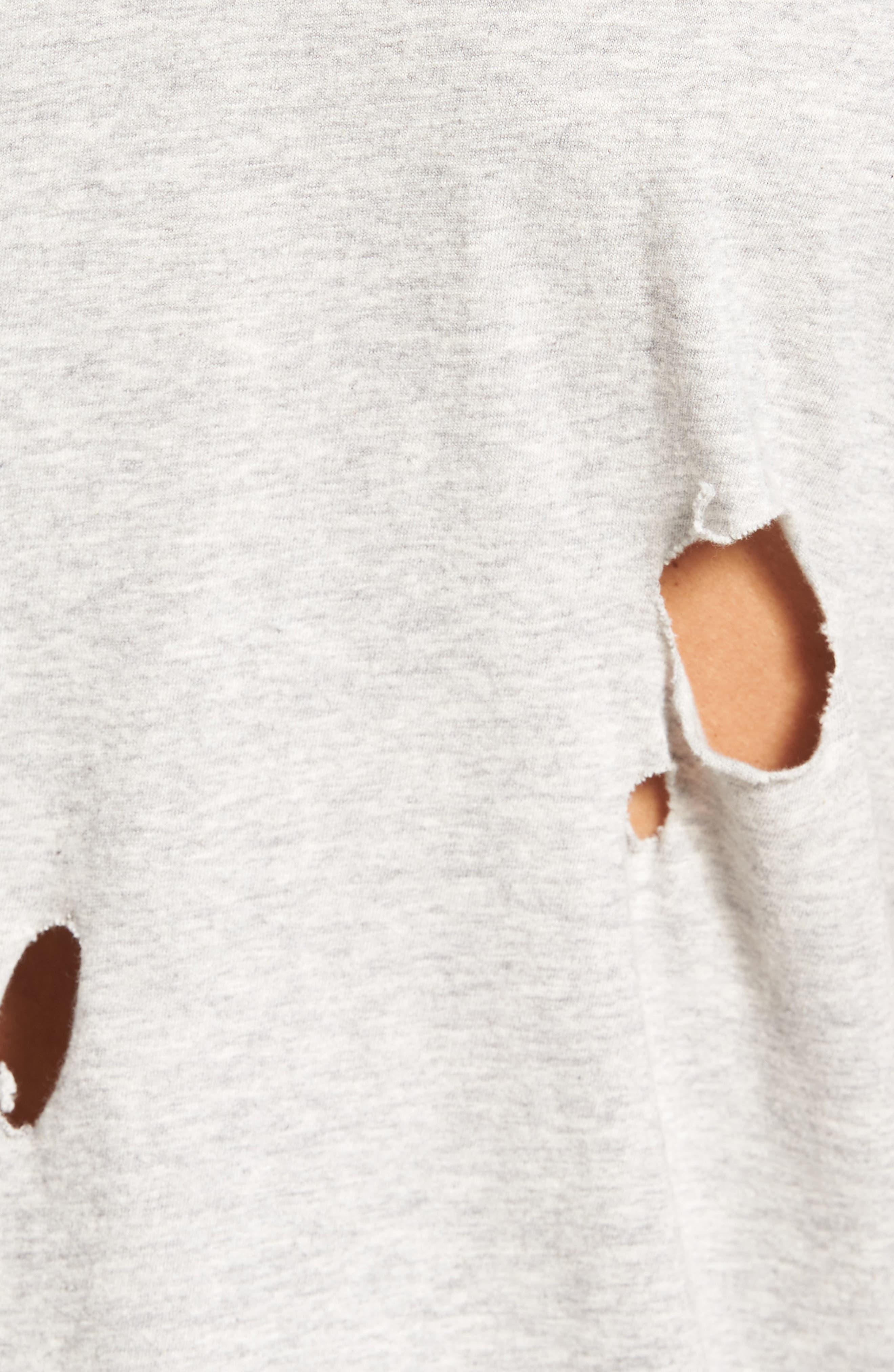 Torn Crewneck T-Shirt,                             Alternate thumbnail 20, color,