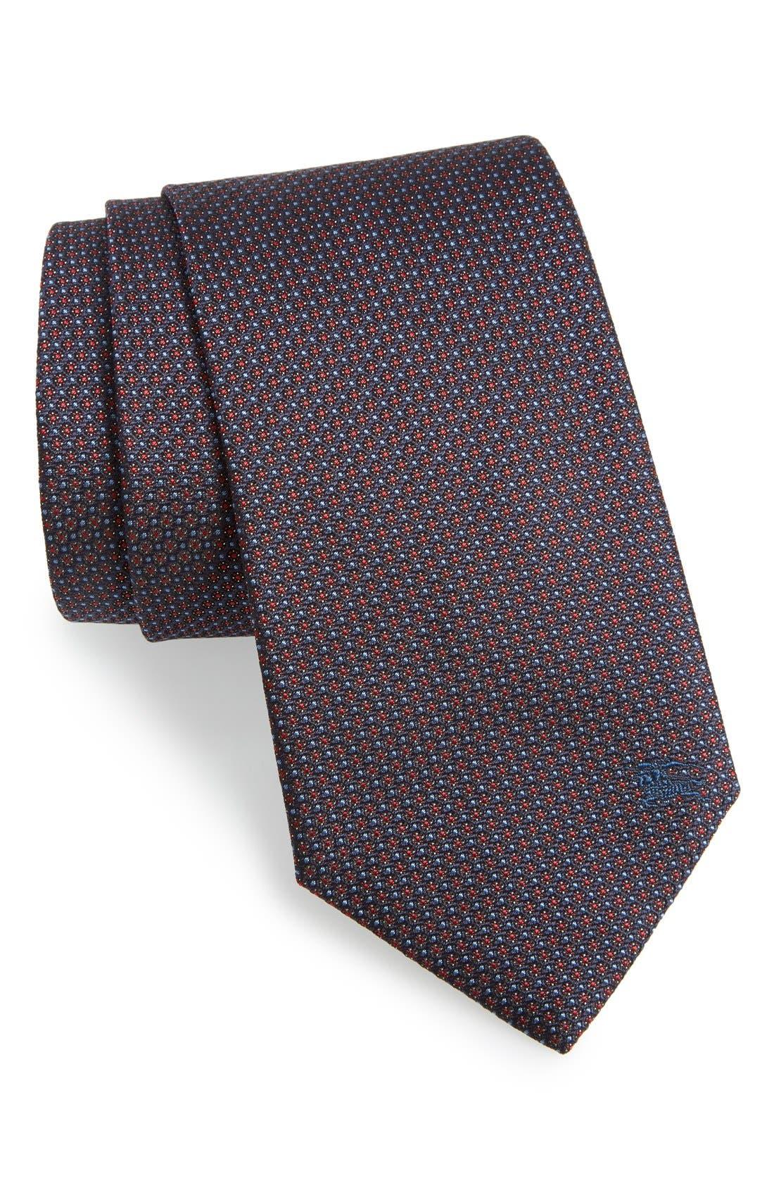 London 'Clinton' Medallion Silk Tie,                             Main thumbnail 2, color,