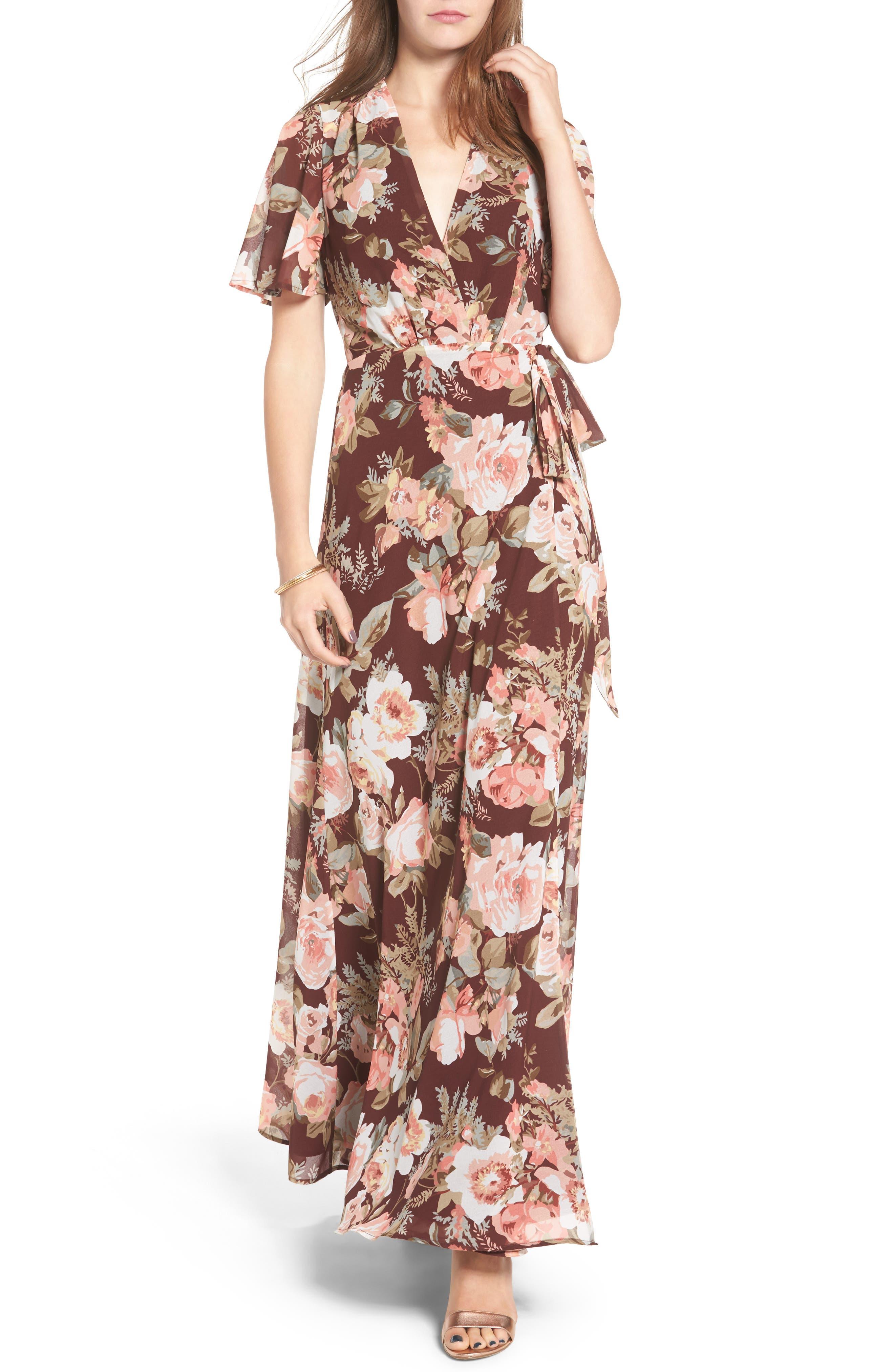 Plaza Wrap Maxi Dress,                             Main thumbnail 2, color,