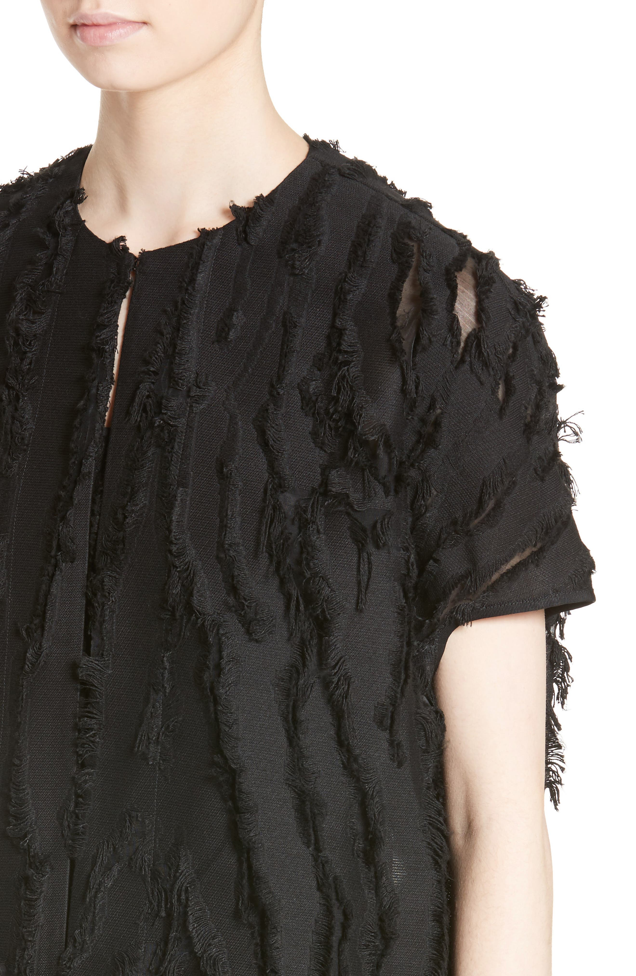 Koya Fringe Royal Shrug,                             Alternate thumbnail 4, color,                             001