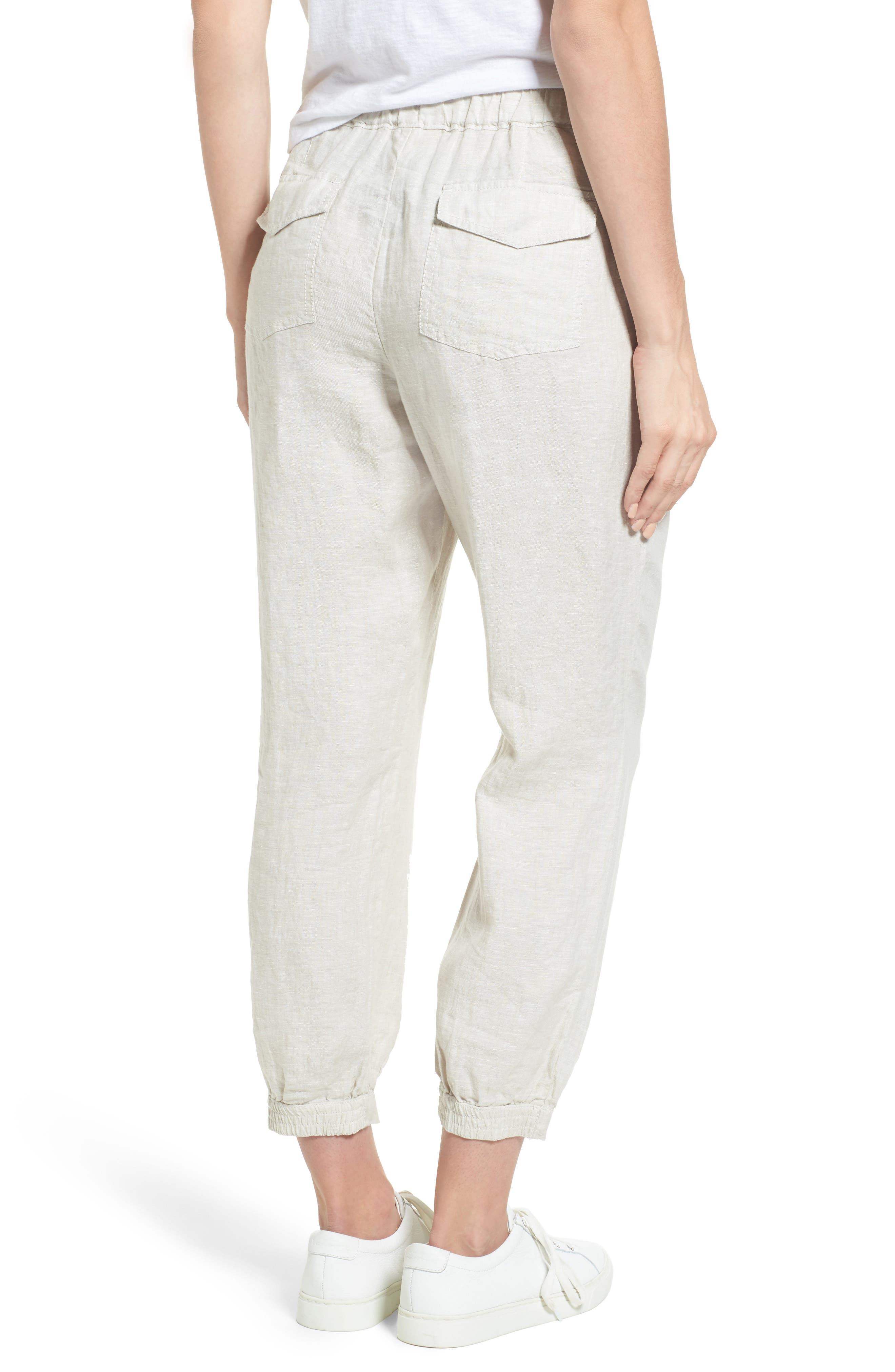 Crop Linen Joggers,                             Alternate thumbnail 2, color,                             260