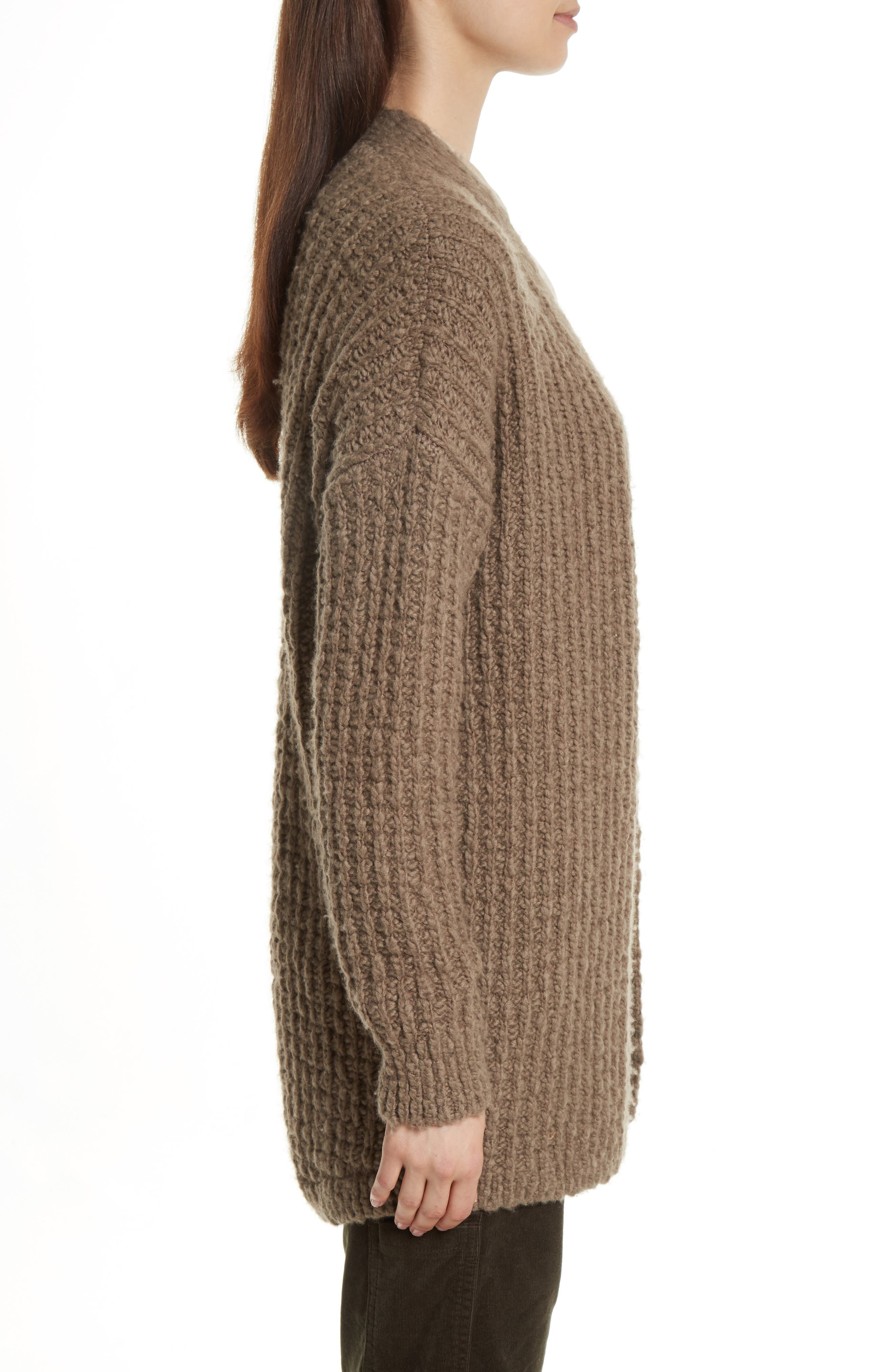 Waffle Stitch Cardigan,                             Alternate thumbnail 3, color,                             206