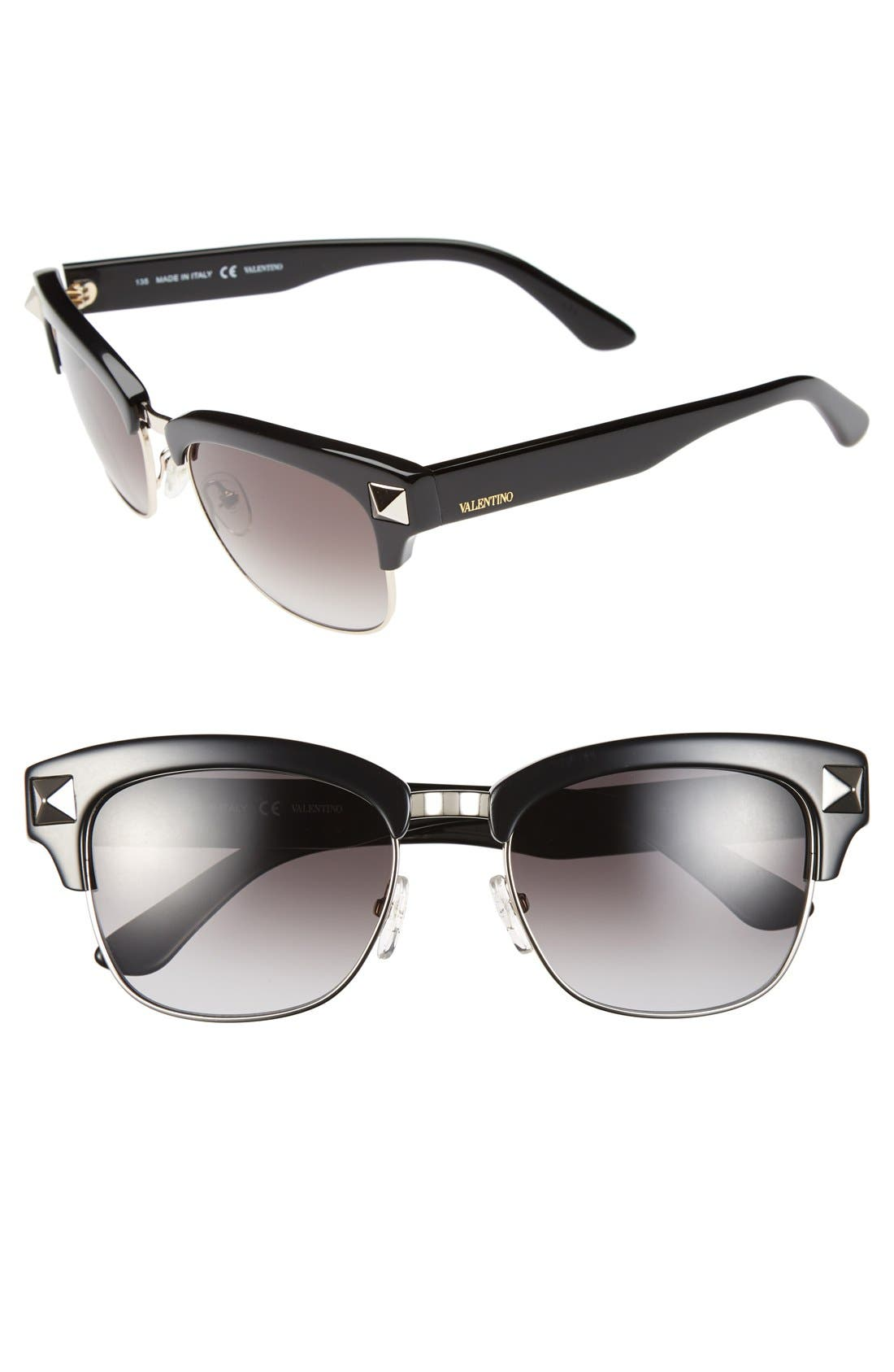 'Rockstud' 53mm Sunglasses,                         Main,                         color, 001