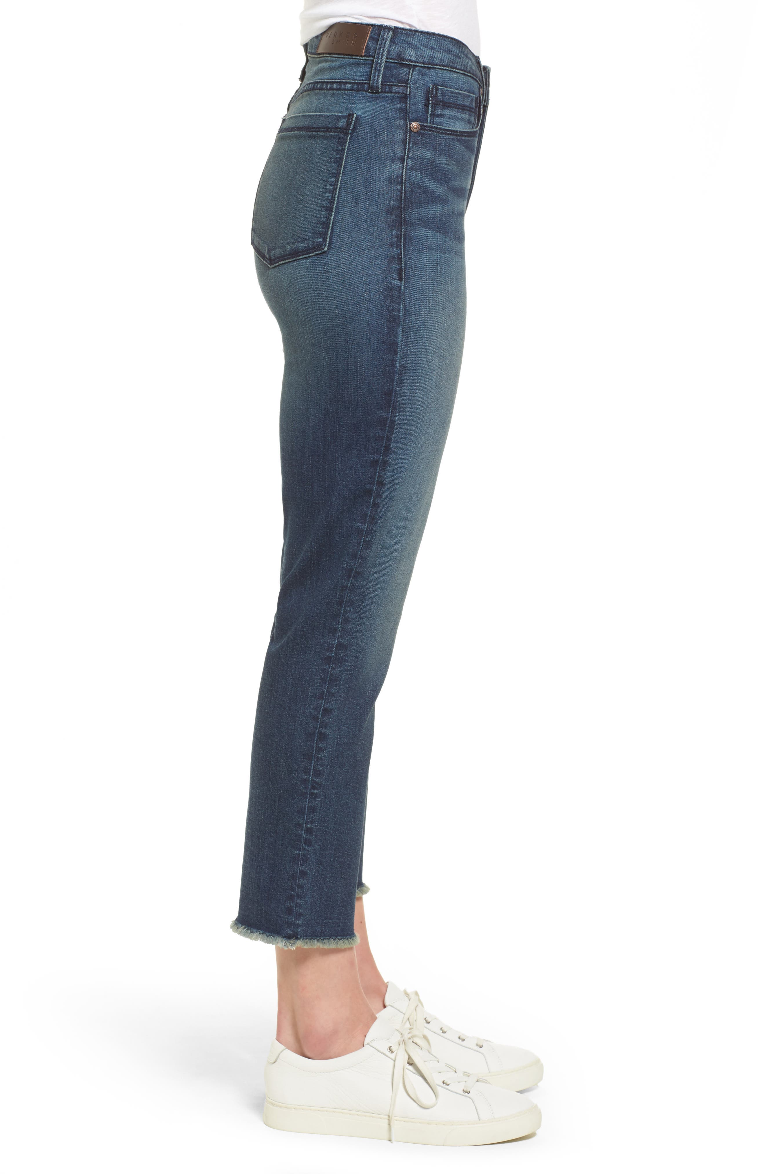 Pin-Up Straight Crop Jeans,                             Alternate thumbnail 3, color,                             424