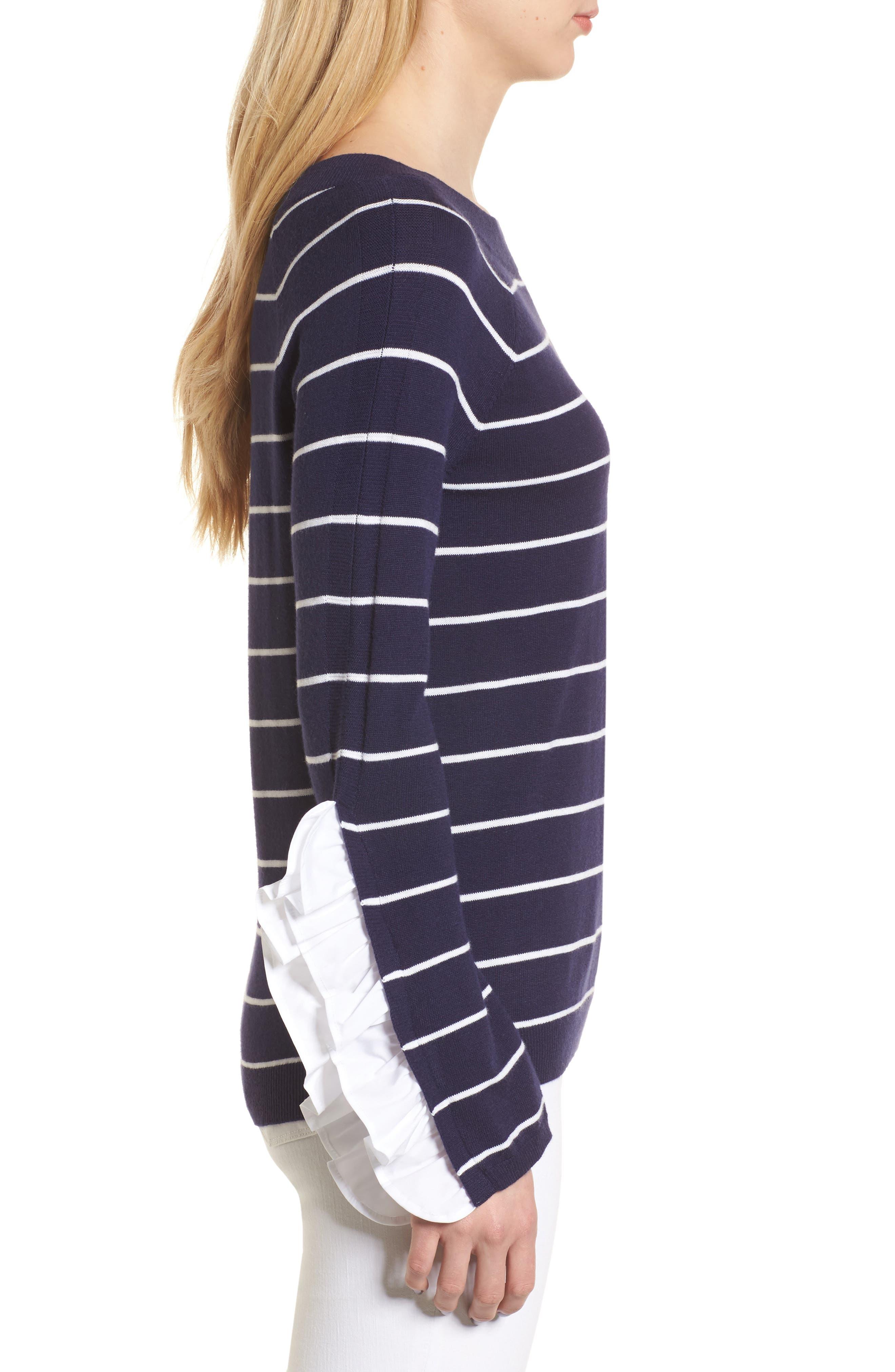 Ruffle Sleeve Sweater,                             Alternate thumbnail 11, color,