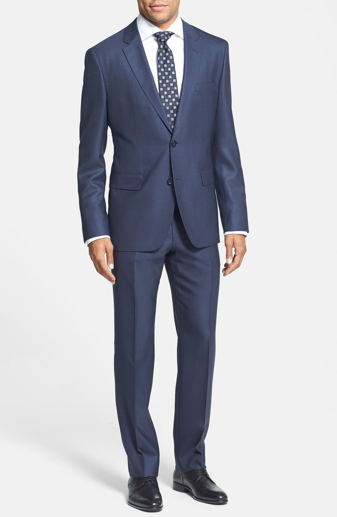 BOSS HUGO BOSS 'Johnstons/Lenon' Trim Fit Wool Suit, Main, color, 410