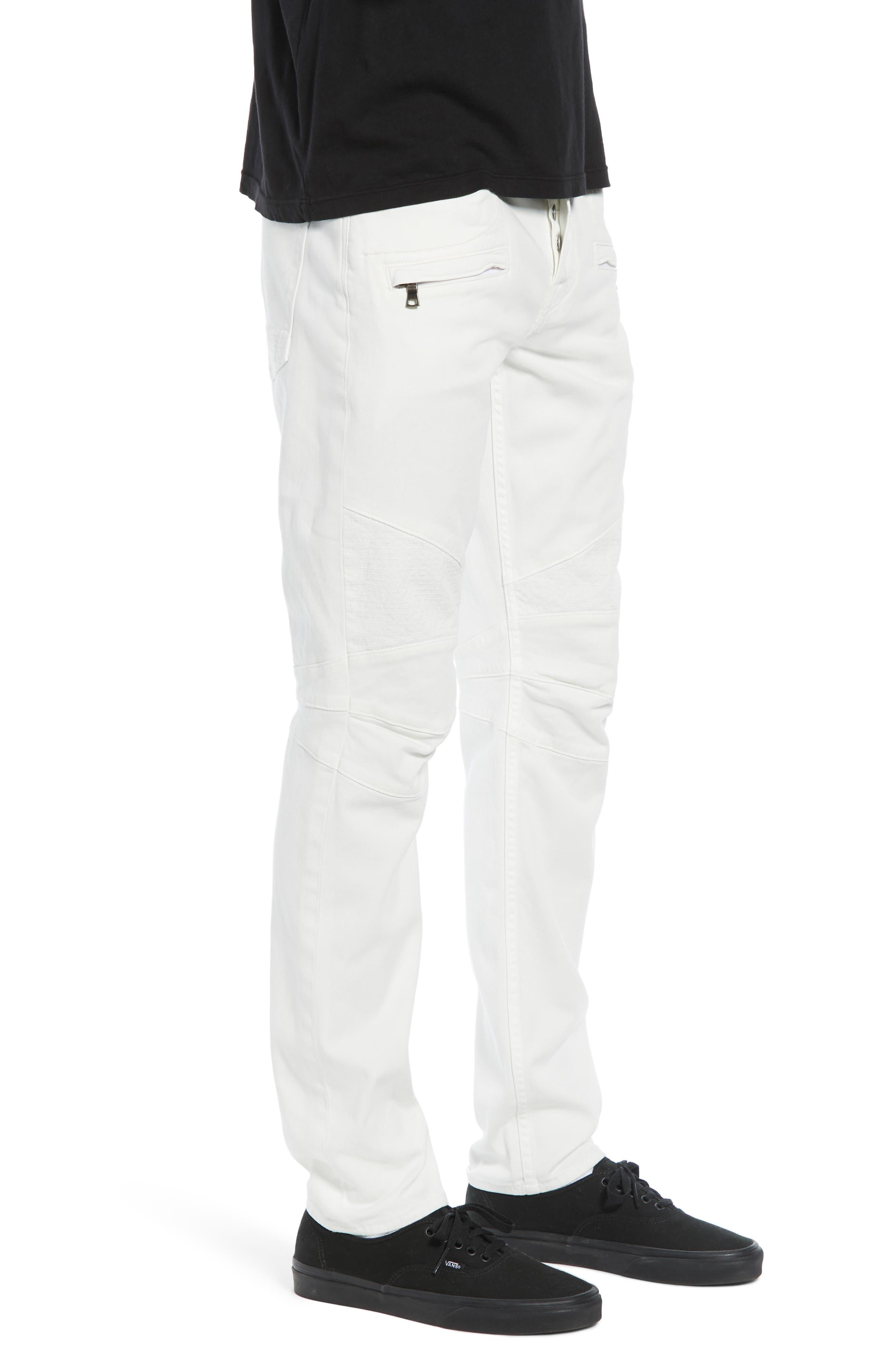 Blinder Biker Skinny Fit Jeans,                             Alternate thumbnail 3, color,                             DIRTY WHITE