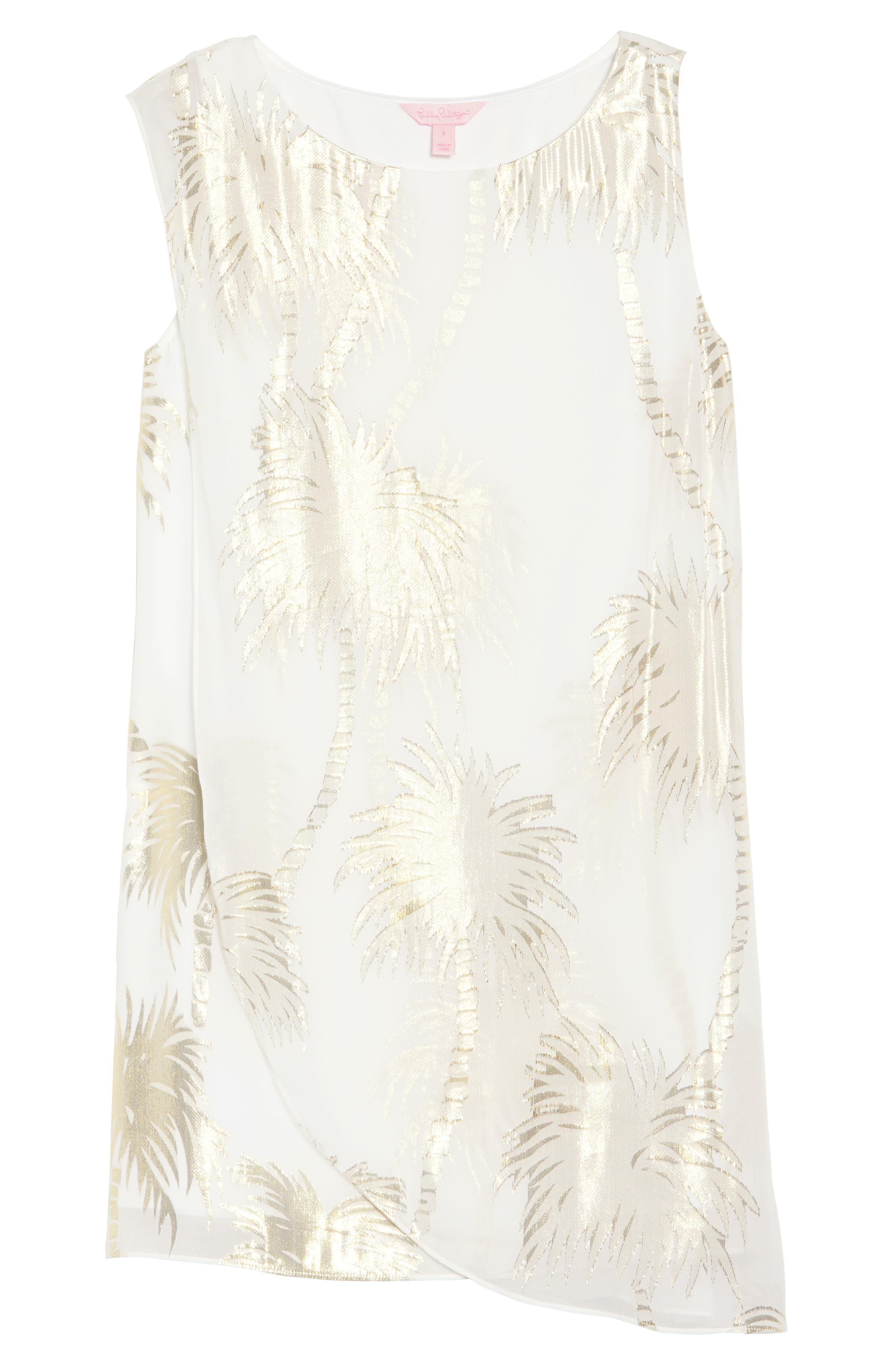 Calissa Silk Dress,                             Alternate thumbnail 7, color,                             100