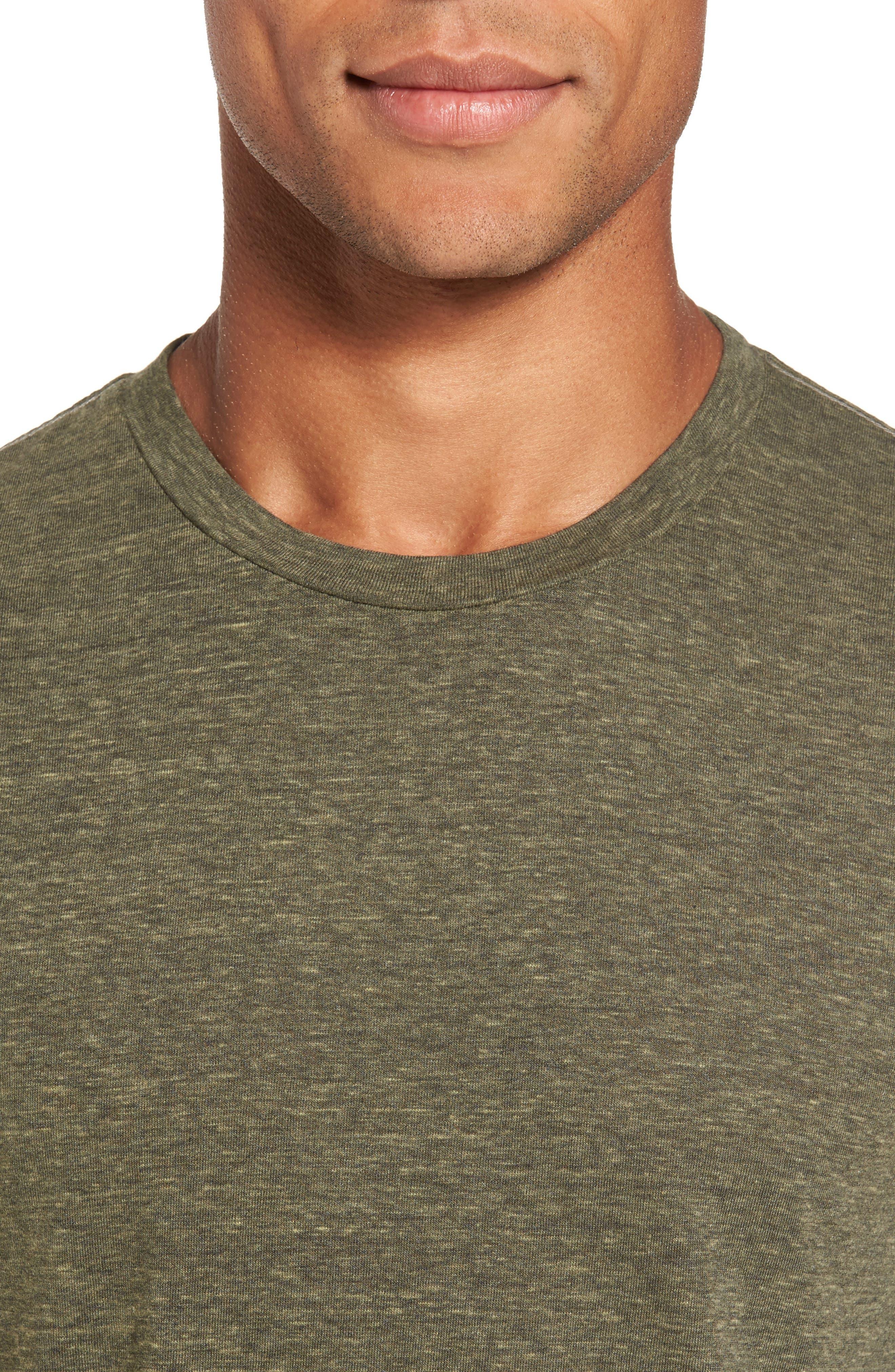 Crewneck Heathered T-Shirt,                             Alternate thumbnail 4, color,                             313