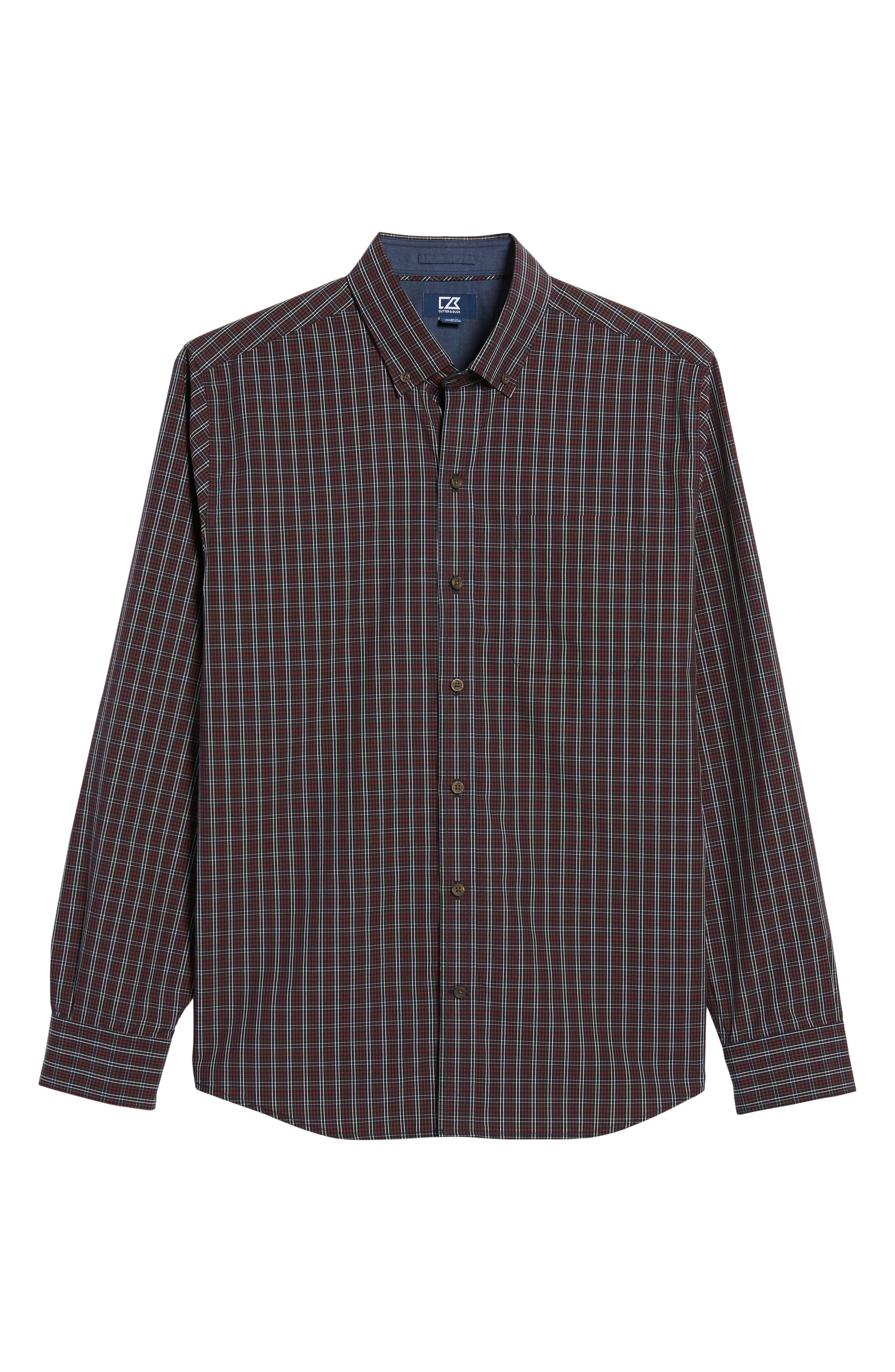 Cavanah Non-Iron Plaid Sport Shirt,                             Alternate thumbnail 6, color,                             493