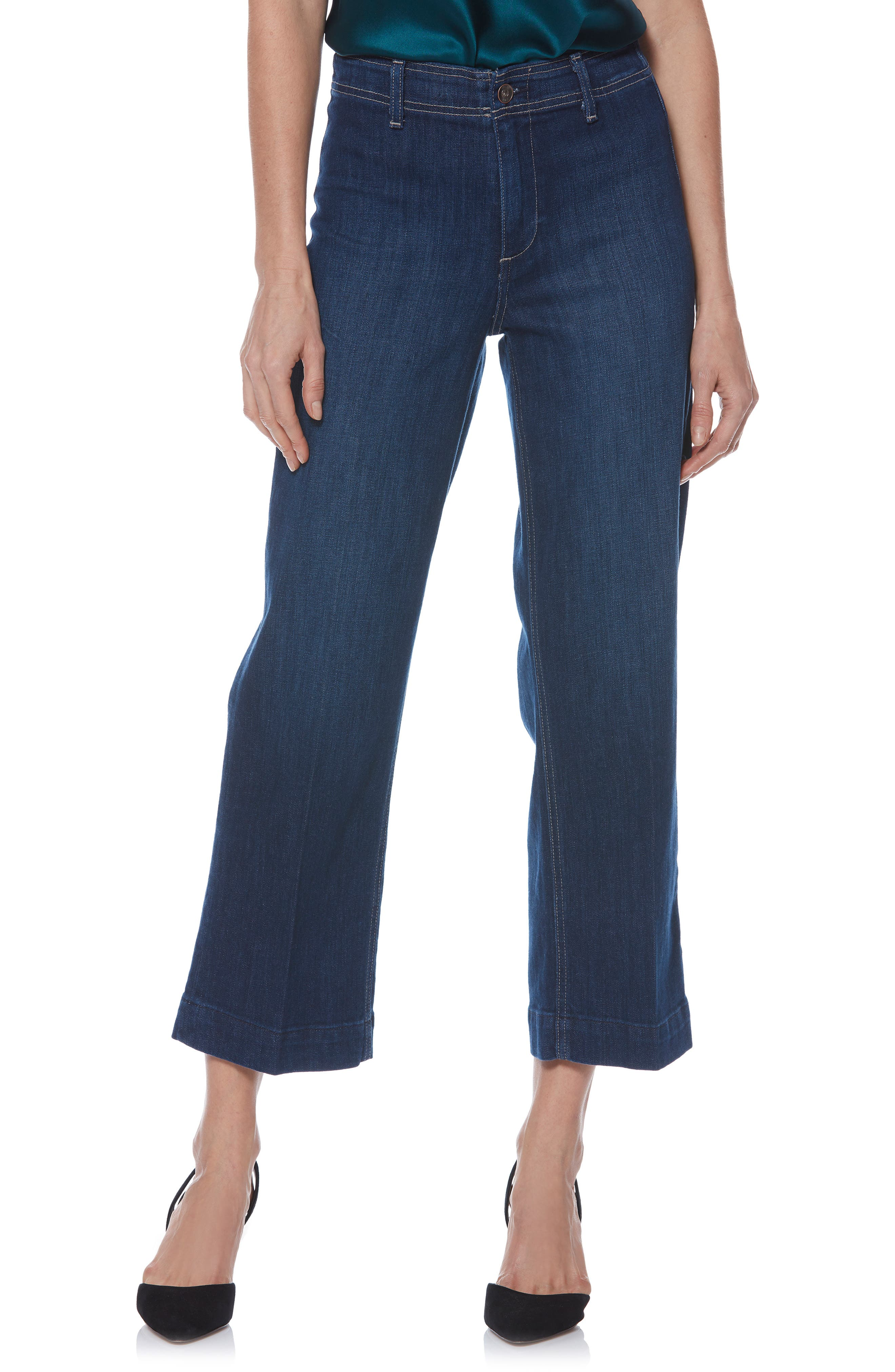 Nellie Clean Front Culotte Jeans in Livorno