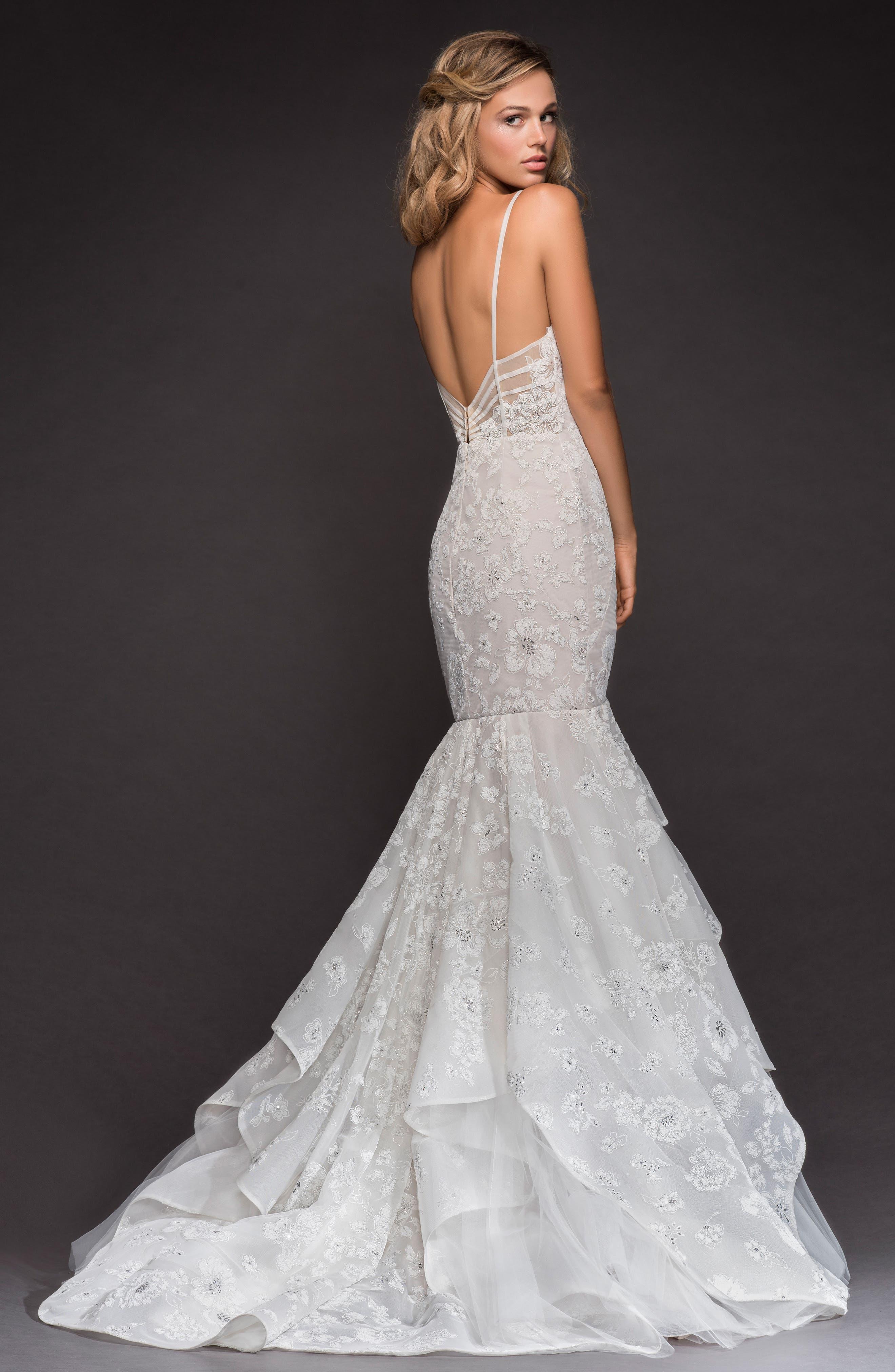 HAYLEY PAIGE,                             Ronnie Embellished Mermaid Gown,                             Alternate thumbnail 2, color,                             IVORY/ CASHMERE