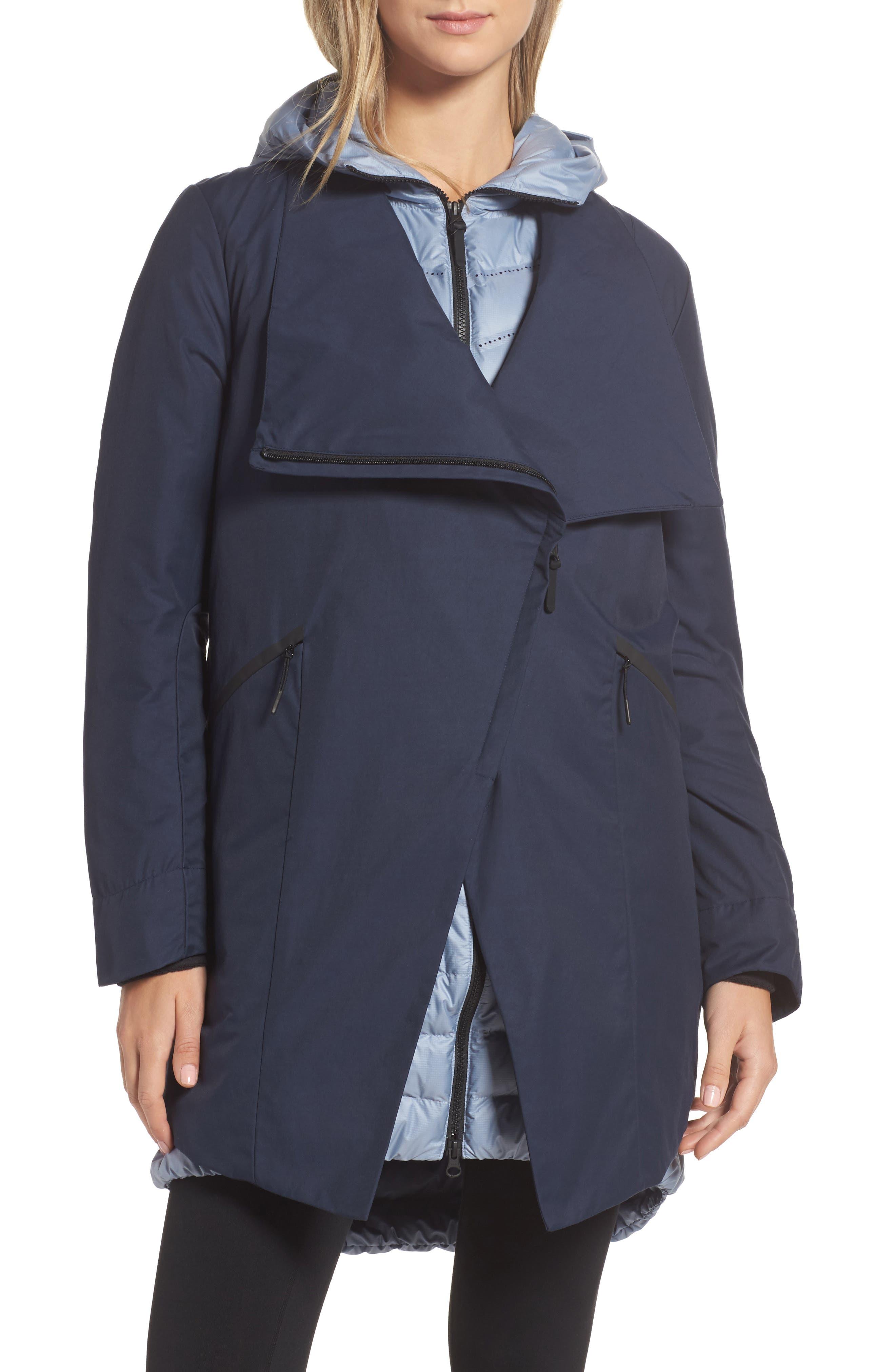 Sportswear Women's AeroLoft 3-in-1 Down Fill Parka,                             Alternate thumbnail 3, color,                             OBSIDIAN/ GLACIER GREY/ BLACK