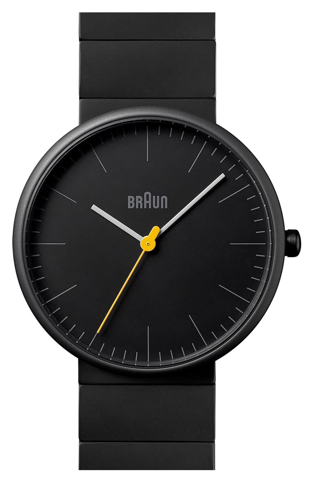 Ceramic Bracelet Watch, 38mm,                             Main thumbnail 1, color,                             BLACK