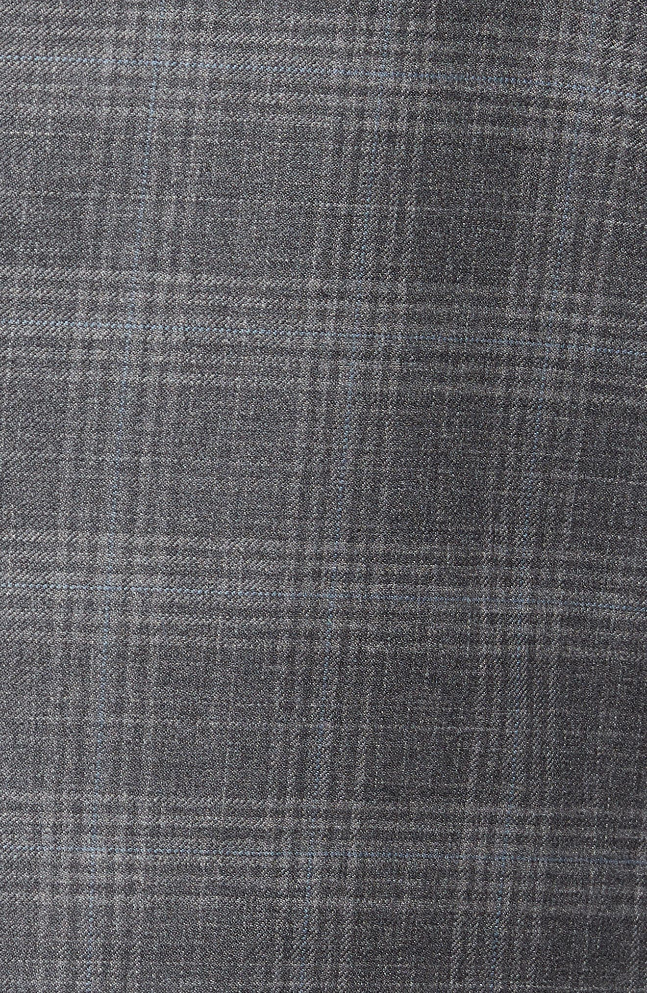Flynn Classic Fit Plaid Wool Sport Coat,                             Alternate thumbnail 6, color,                             GREY