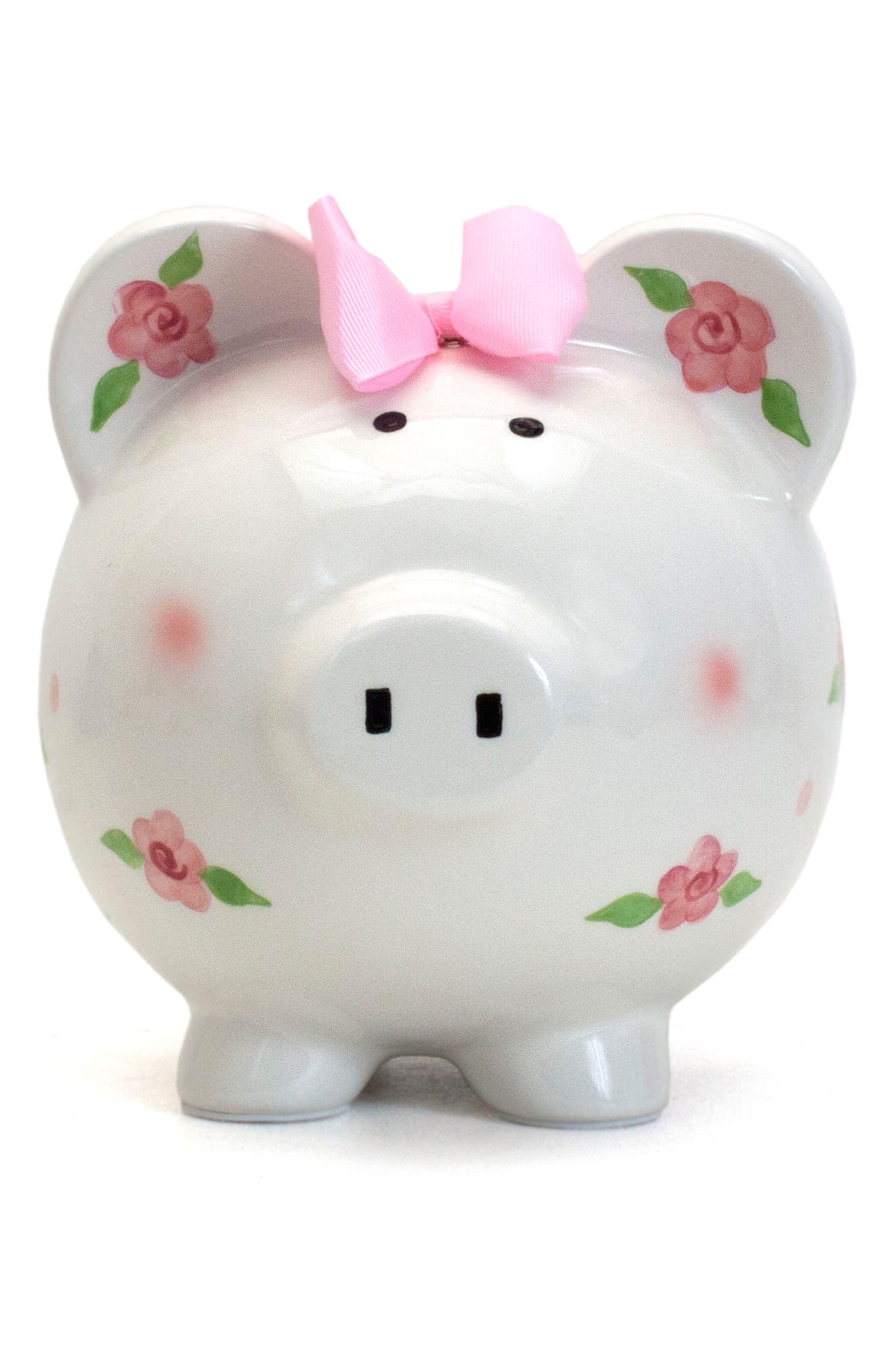 Embellished Piggy Bank,                             Alternate thumbnail 2, color,                             WHITE