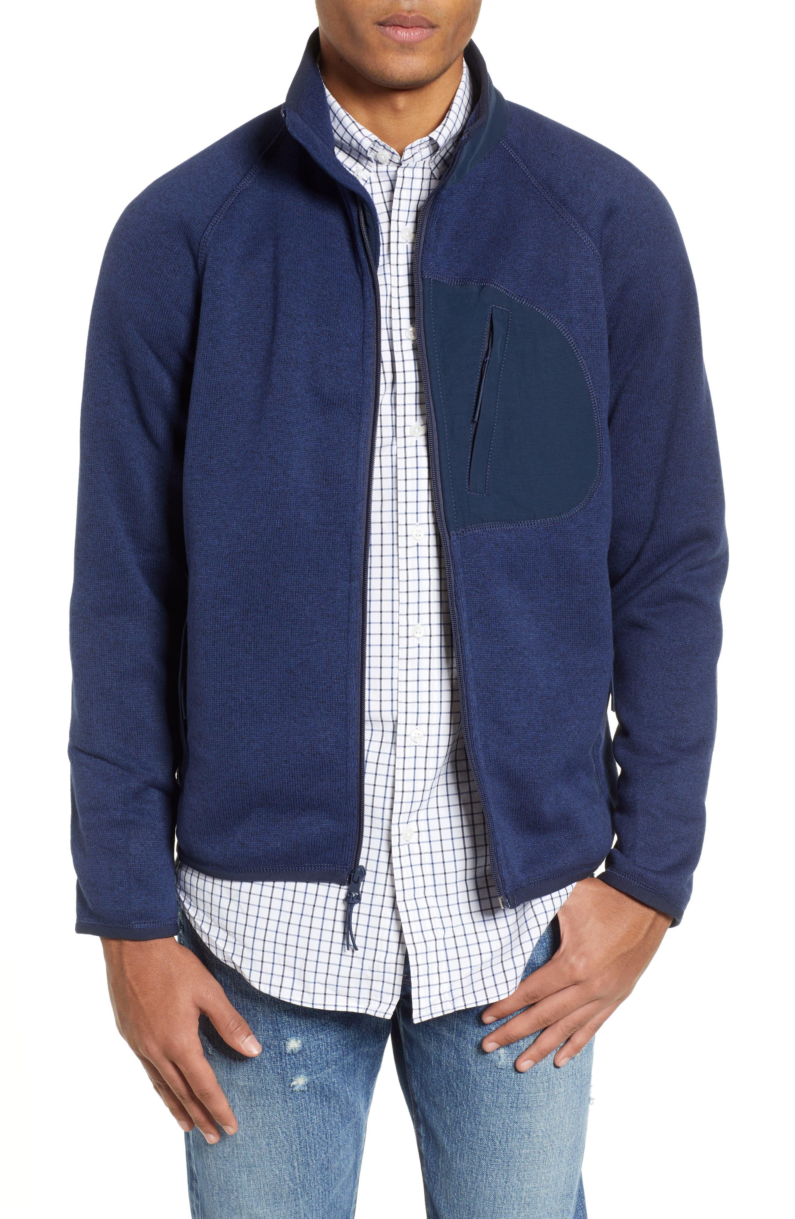 J.crew Classic Fit Fleece Sweater Jacket