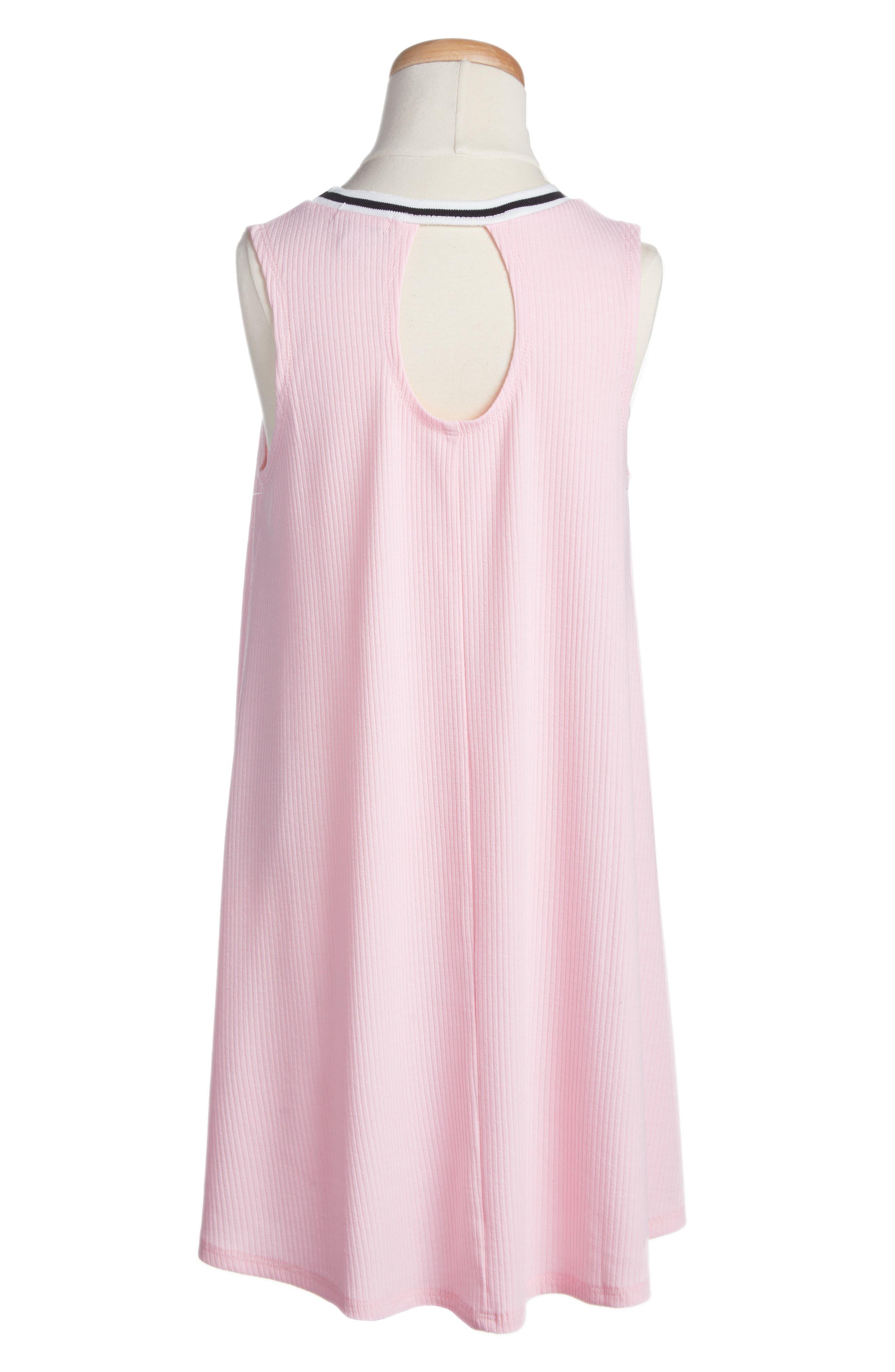 Ringer Tank Dress,                             Alternate thumbnail 2, color,                             CAMEO PINK