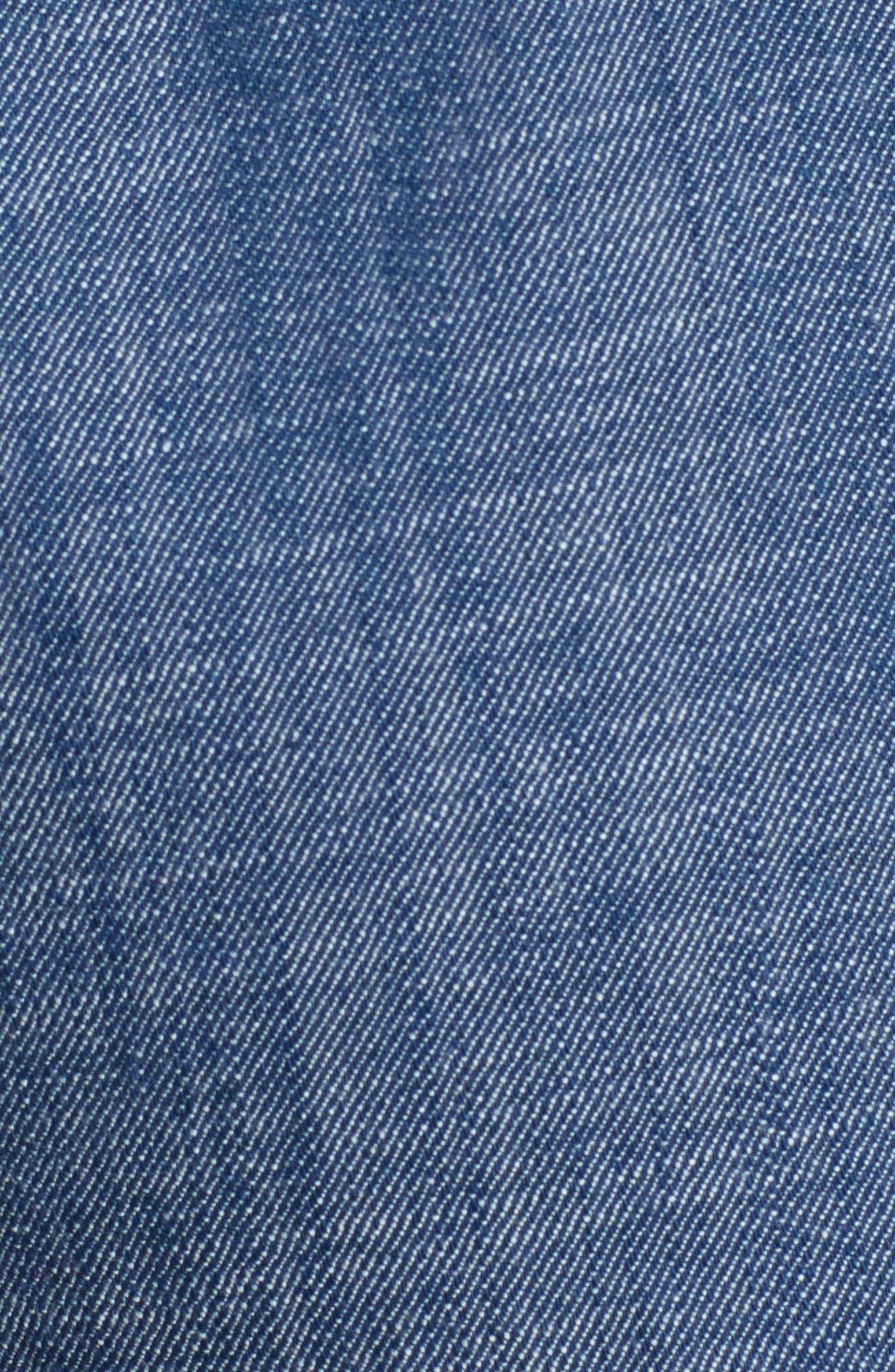 Tie Waist Chambray Shorts,                             Alternate thumbnail 6, color,                             450