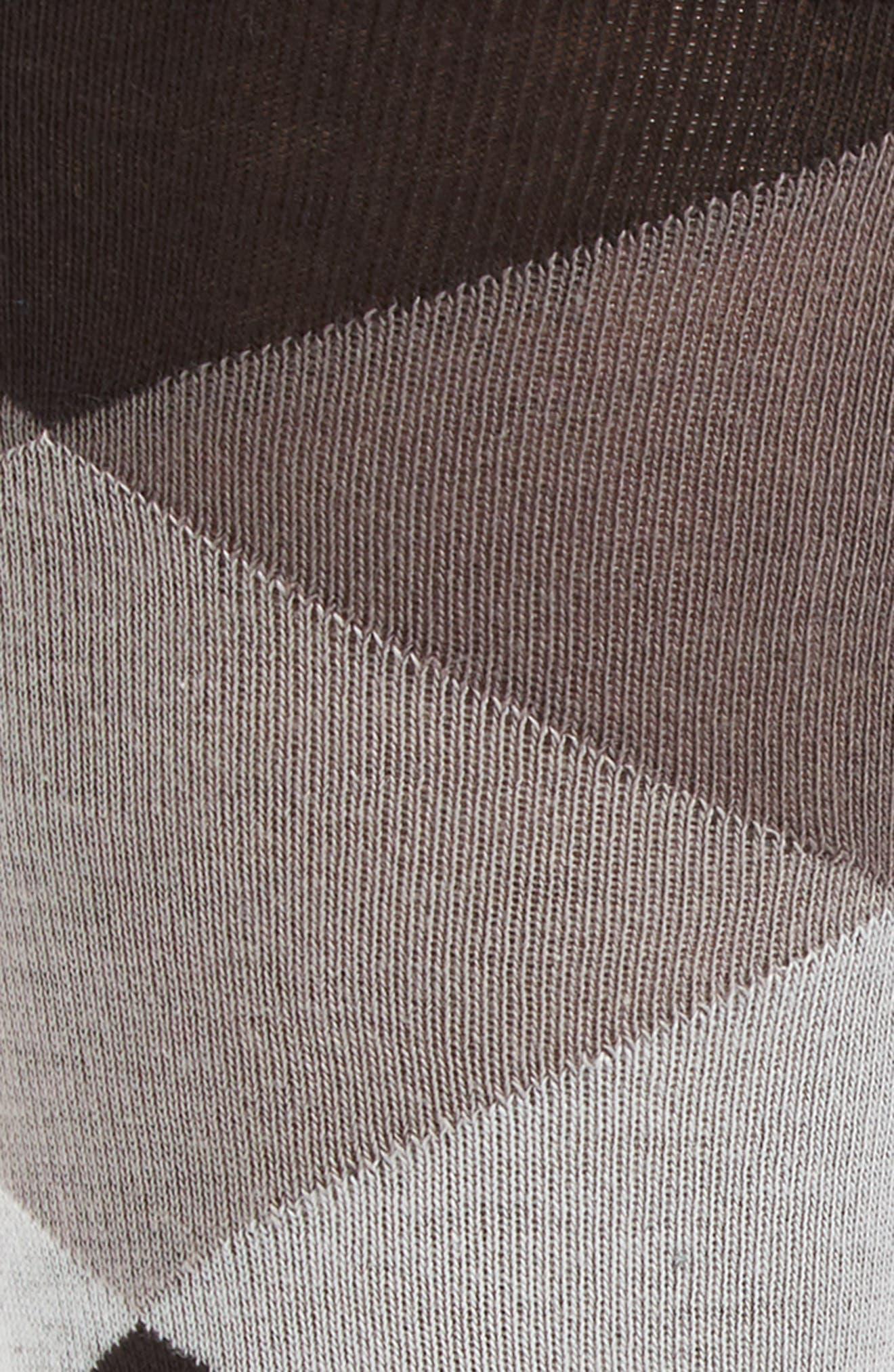 Large Diamond Crew Socks,                             Alternate thumbnail 3, color,                             BLACK