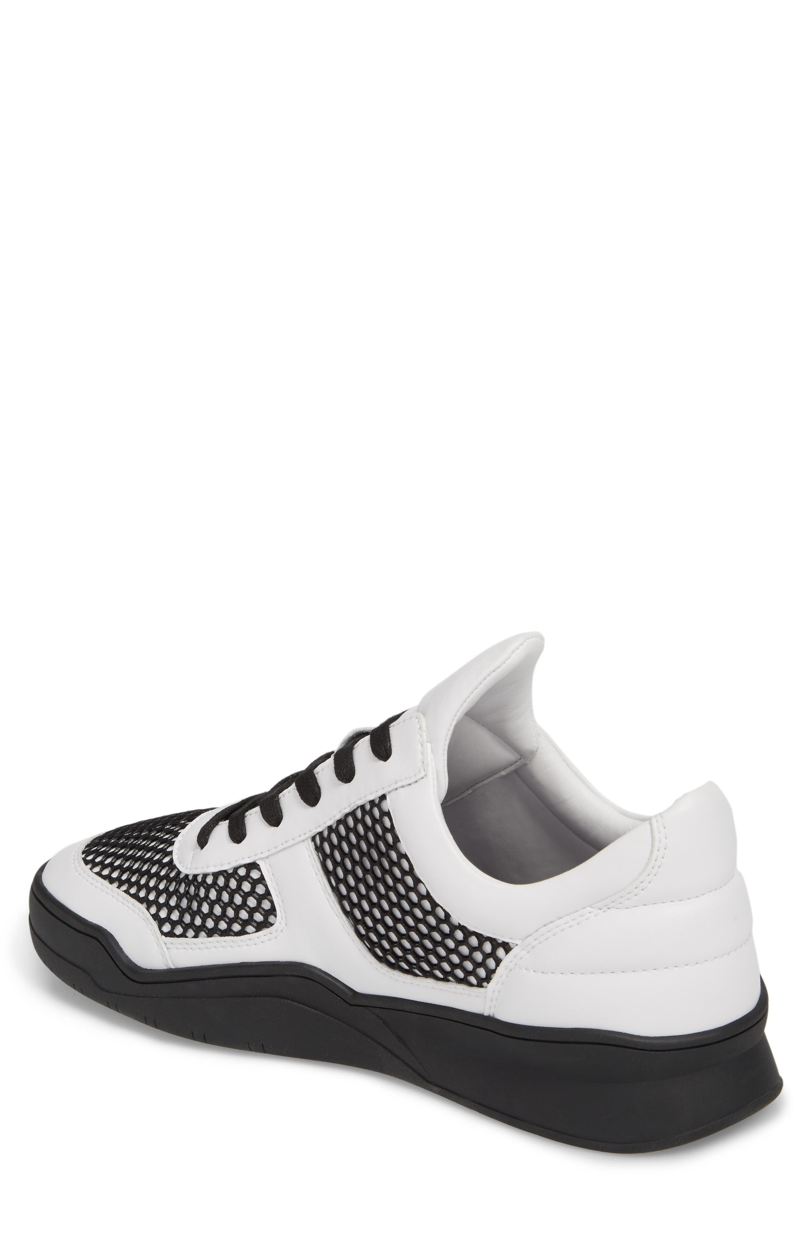 Low-Top Sneaker,                             Alternate thumbnail 2, color,                             BLACK/WHITE