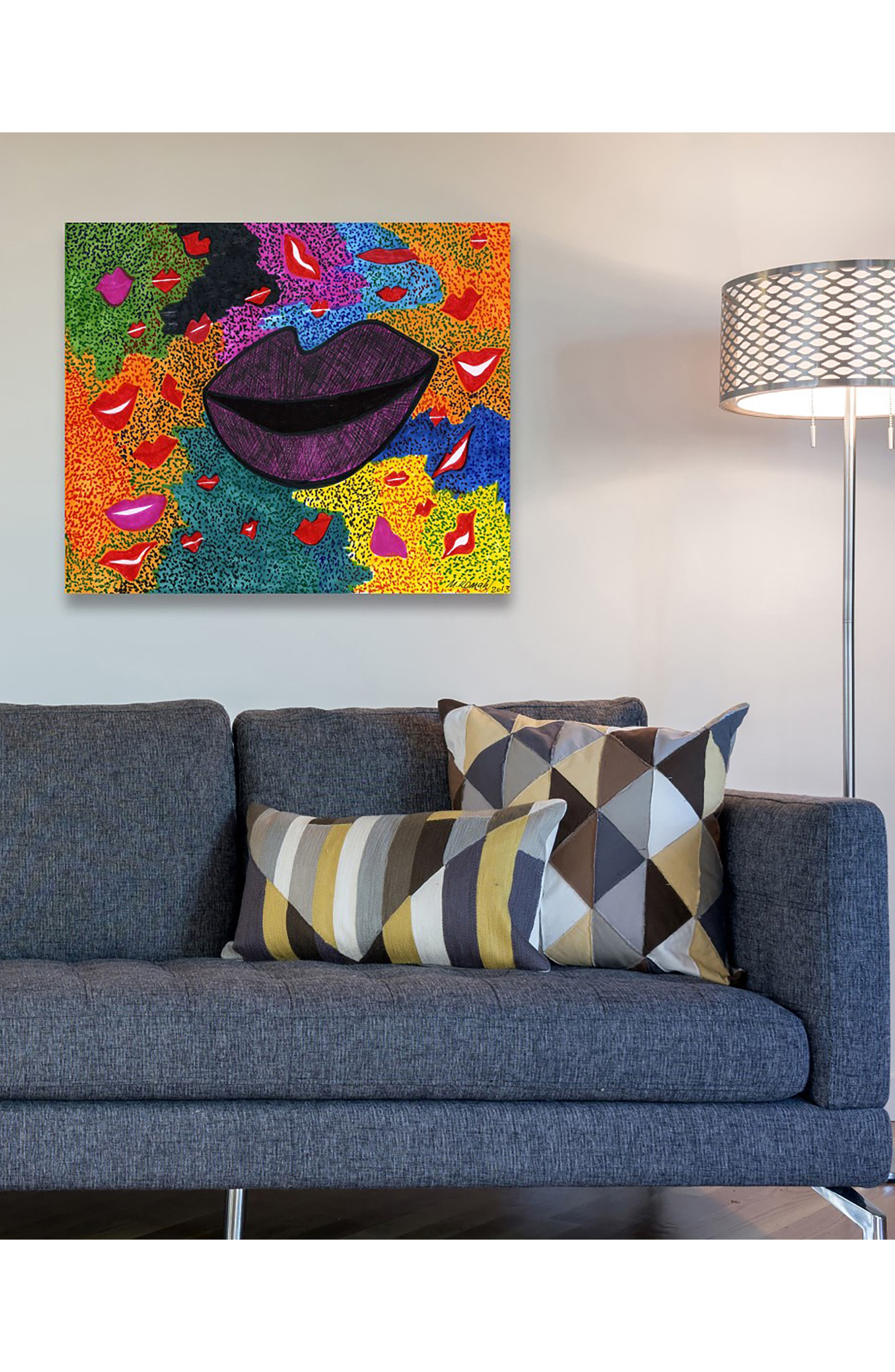 Laughter Canvas Wall Art,                             Alternate thumbnail 2, color,                             WHITE