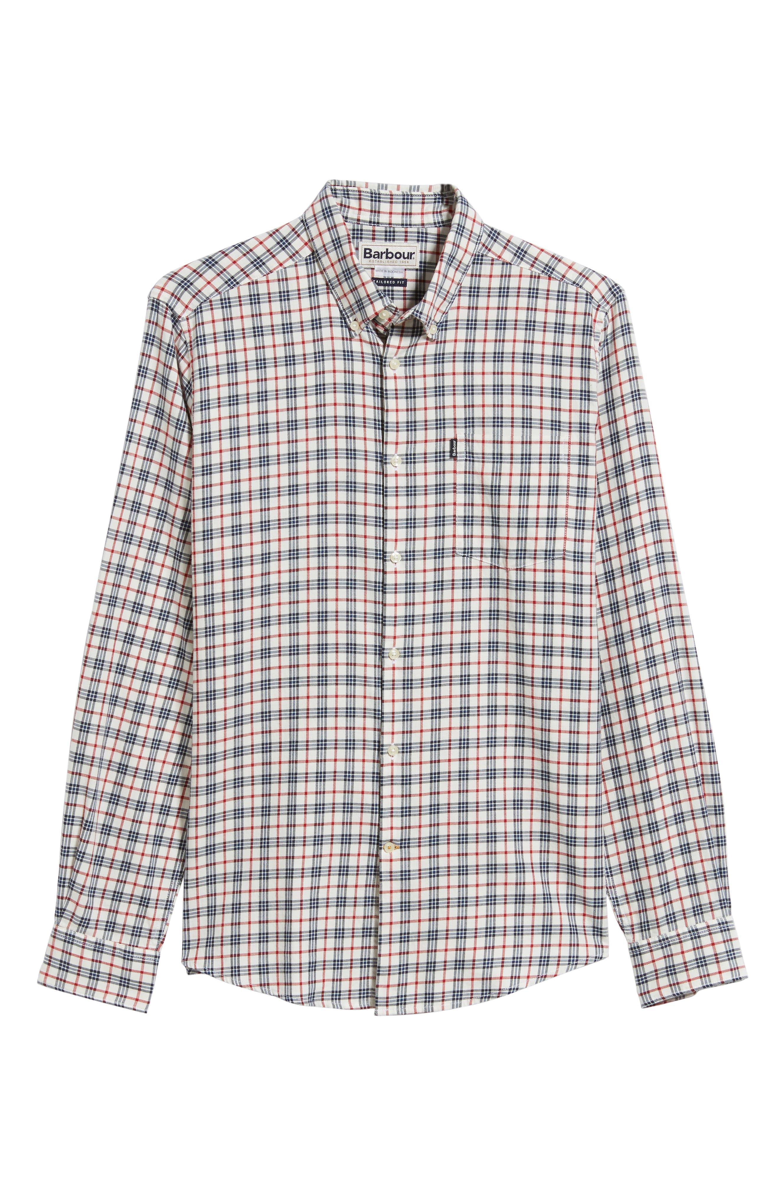 Stapleton Country Check Sport Shirt,                             Alternate thumbnail 5, color,                             100