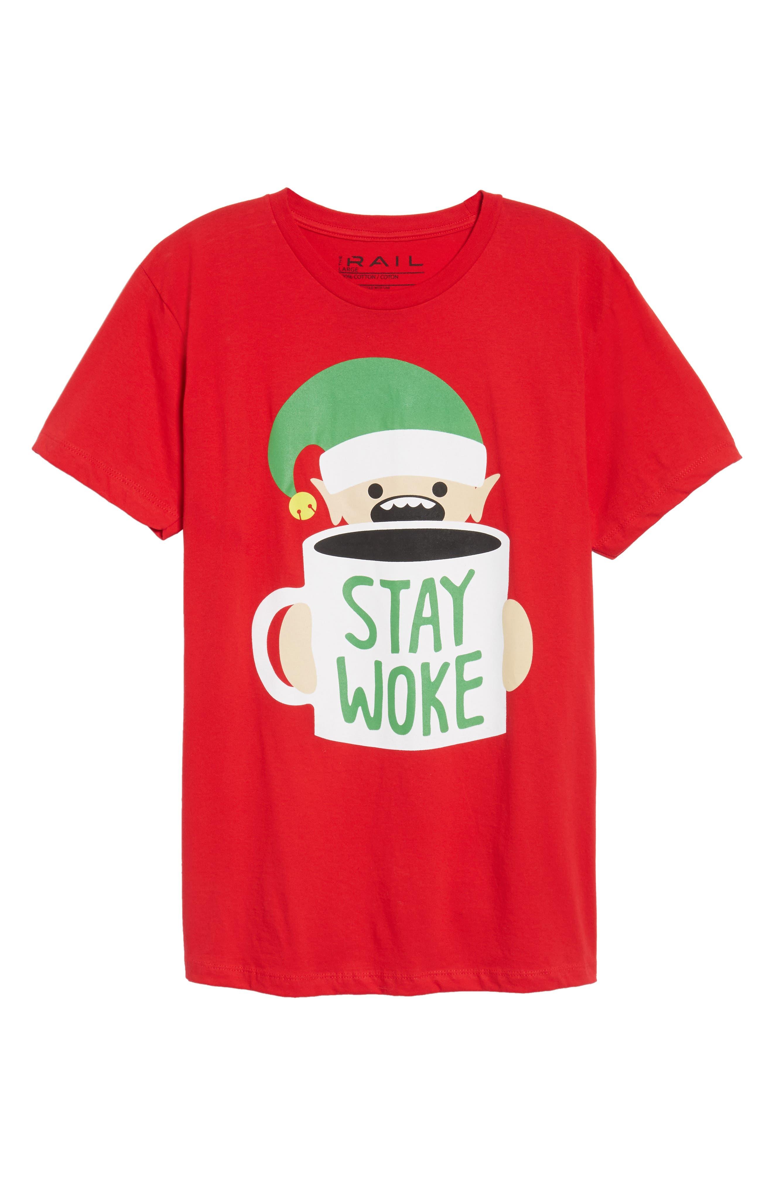 Stay Woke T-Shirt,                             Alternate thumbnail 6, color,