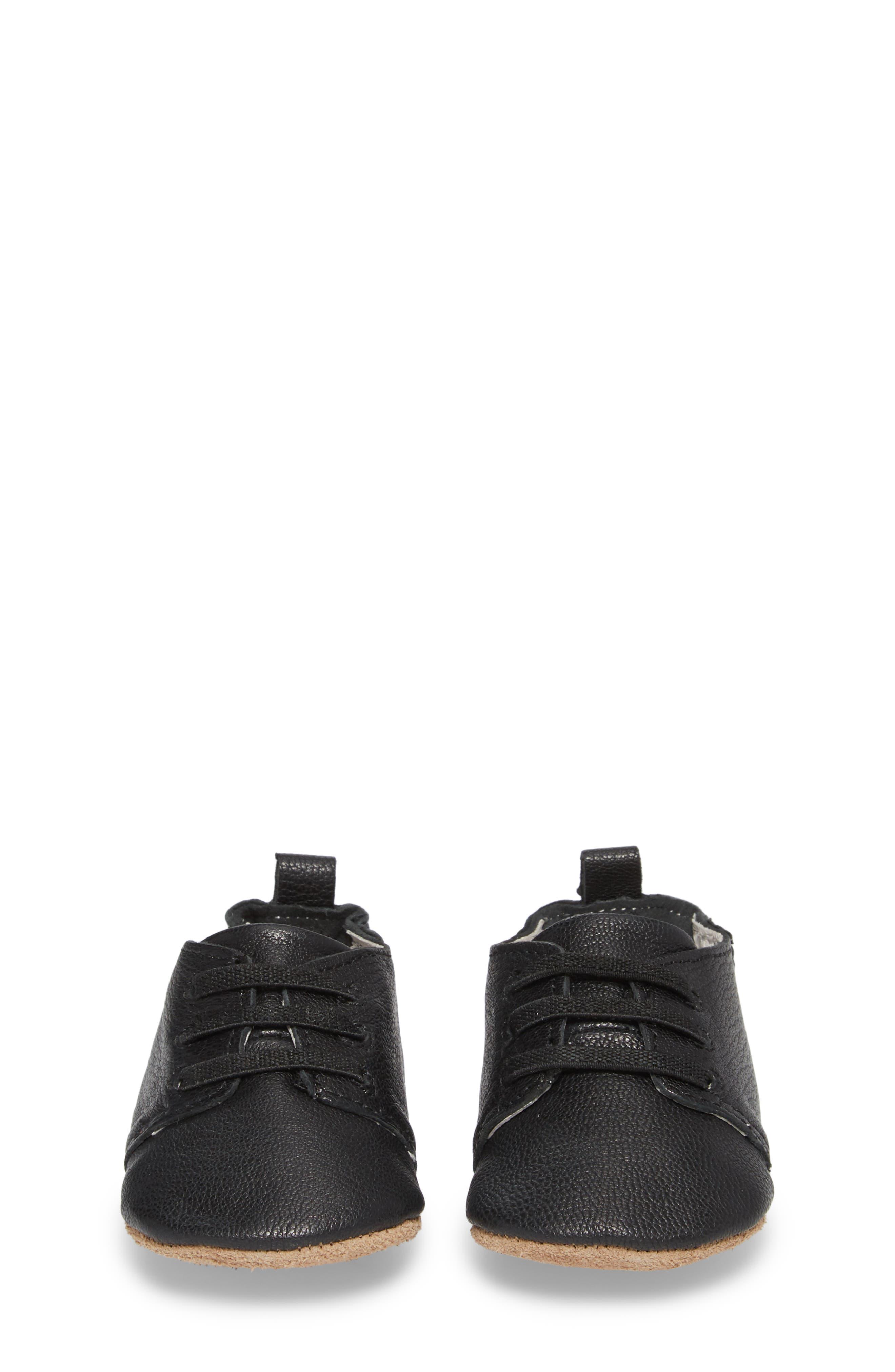 Owen Oxford Crib Shoe,                             Alternate thumbnail 4, color,                             BLACK