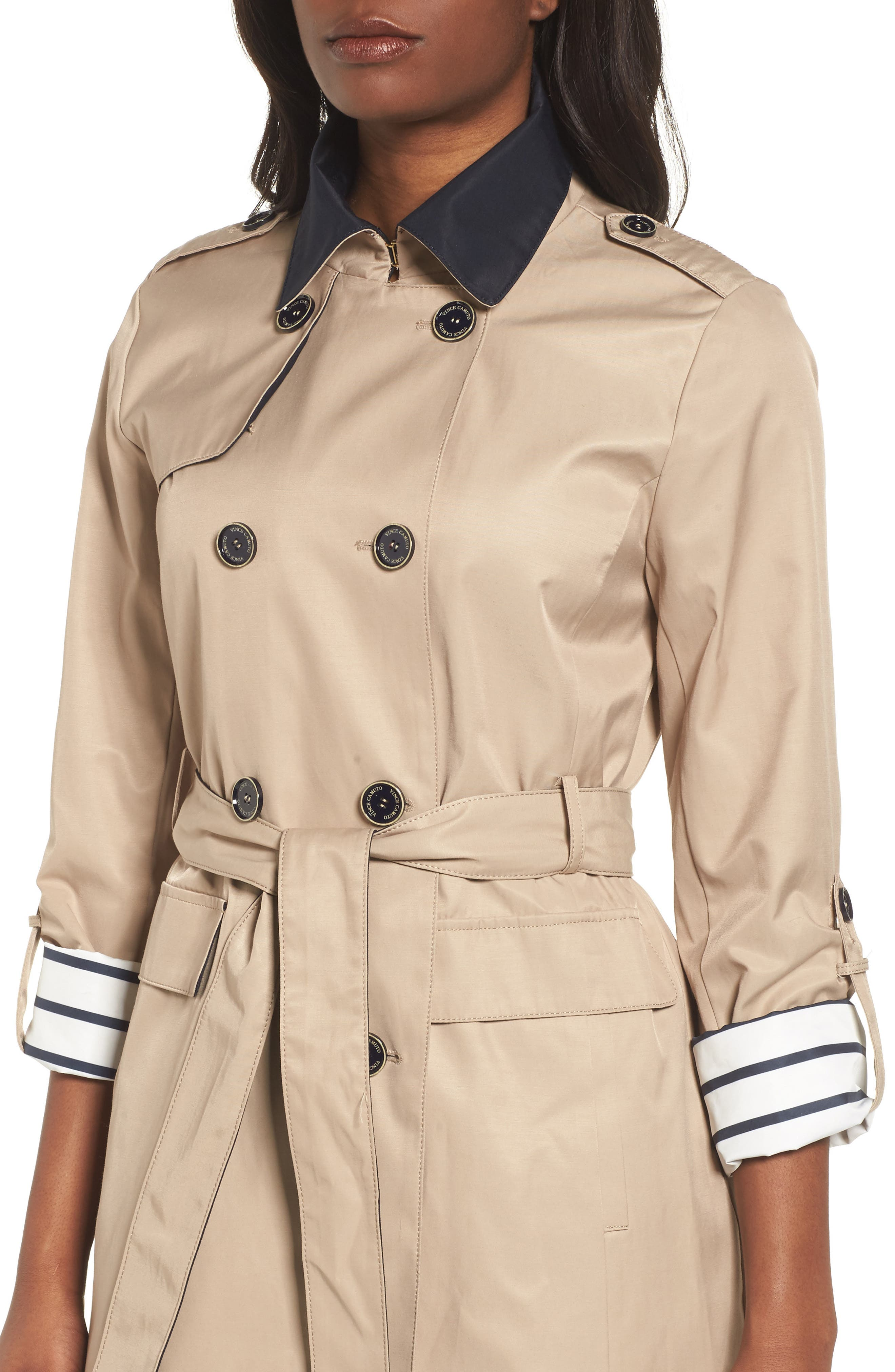 Contrast Collar Trench Coat,                             Alternate thumbnail 4, color,                             259