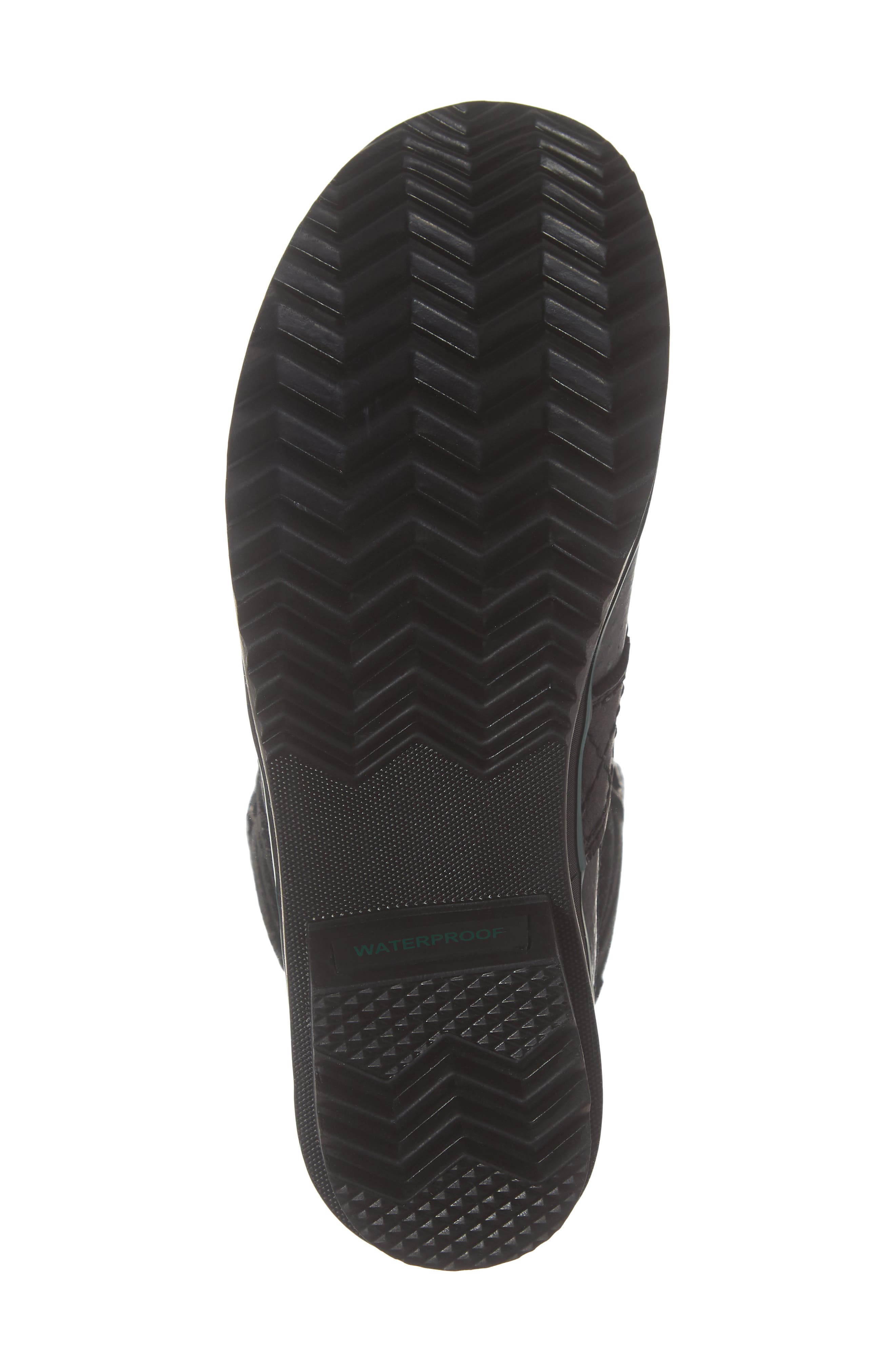 Tofino Faux Fur & Genuine Shearling Lined Waterproof Boot,                             Alternate thumbnail 6, color,                             BLACK