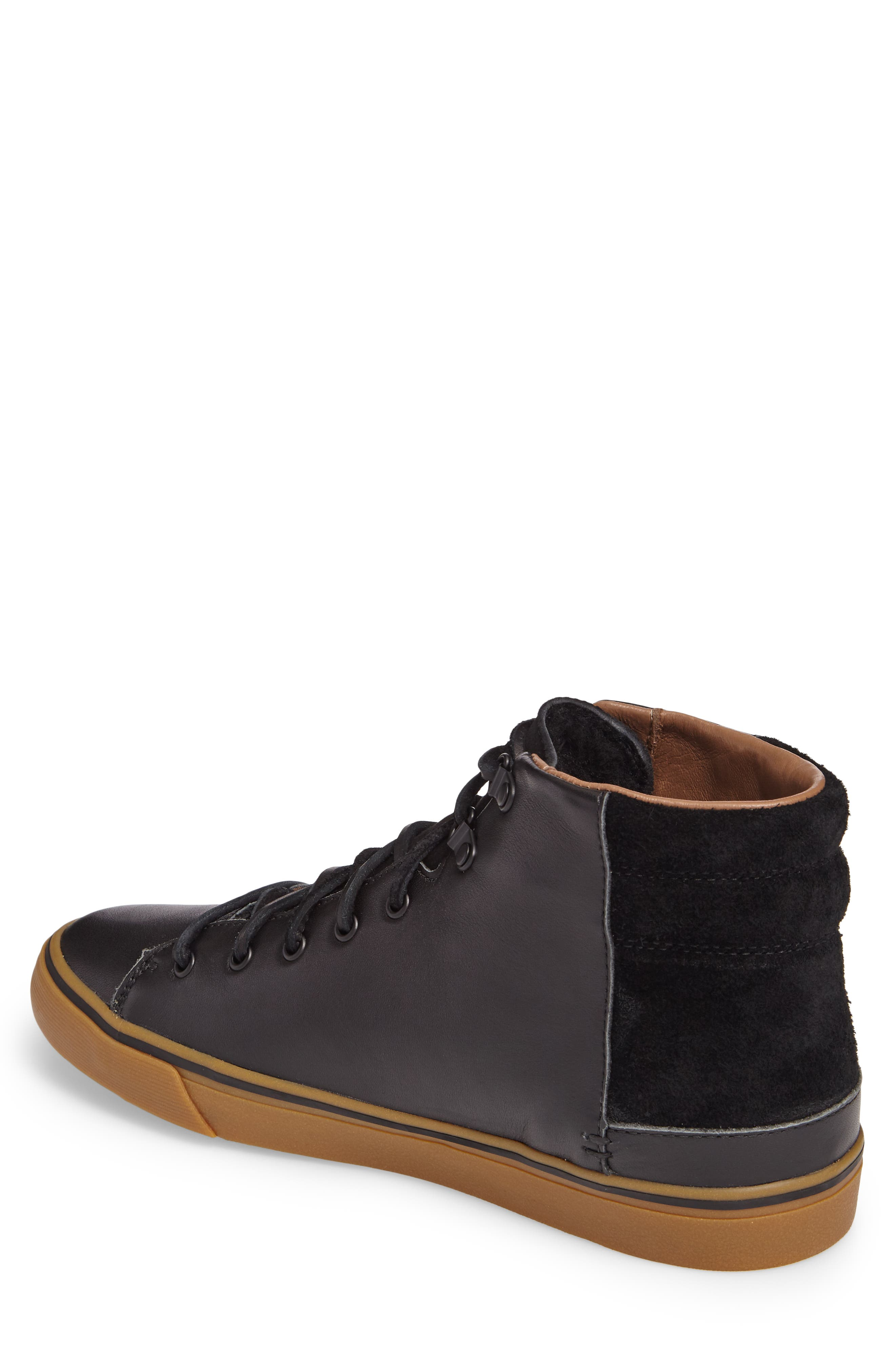 Hoyt Luxe Genuine Shearling High Top Sneaker,                             Alternate thumbnail 2, color,                             001