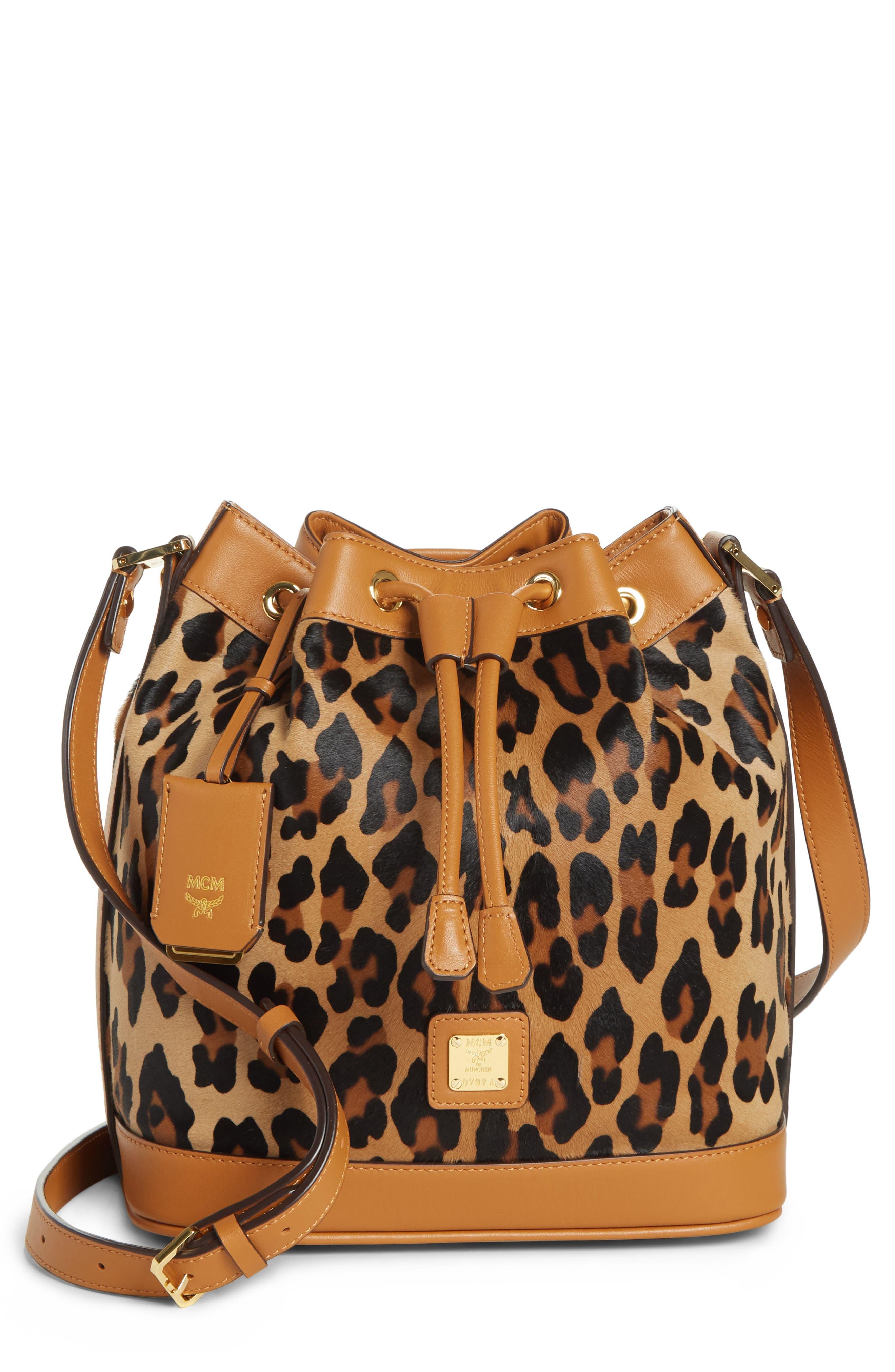 Small Drawstring Bag,                         Main,                         color, LEOPARD