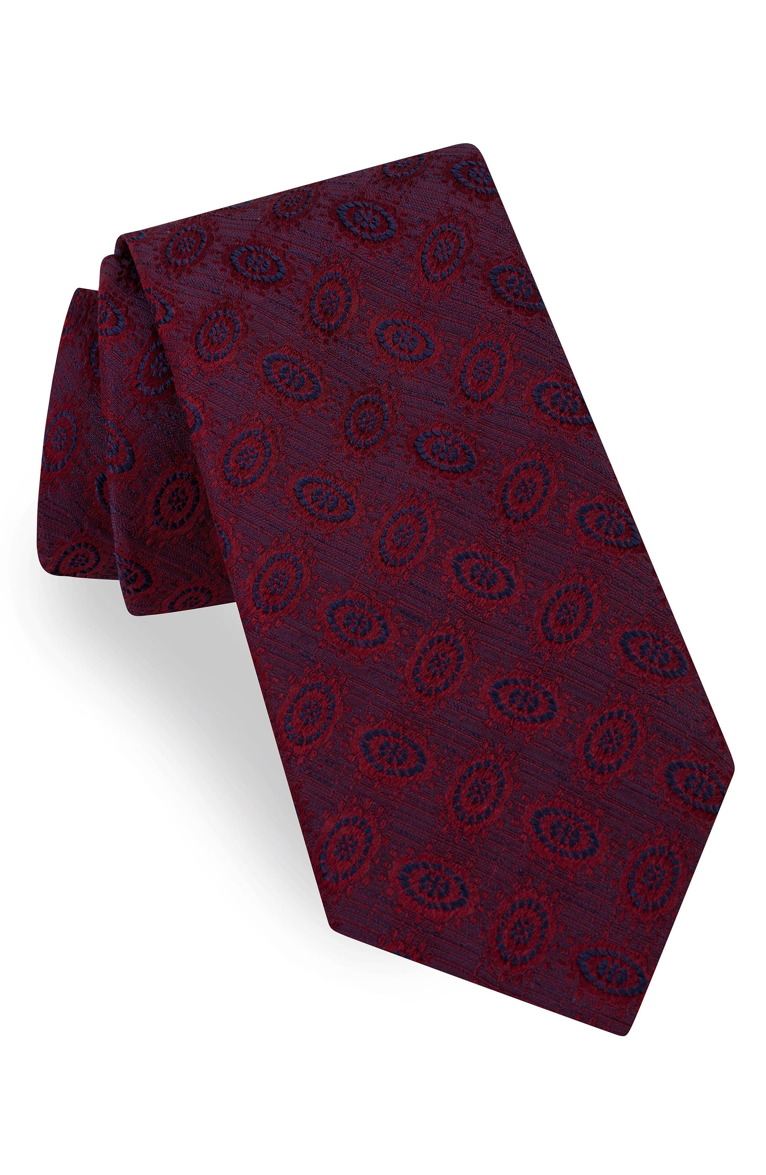Oval Medallion Silk Tie,                             Main thumbnail 2, color,