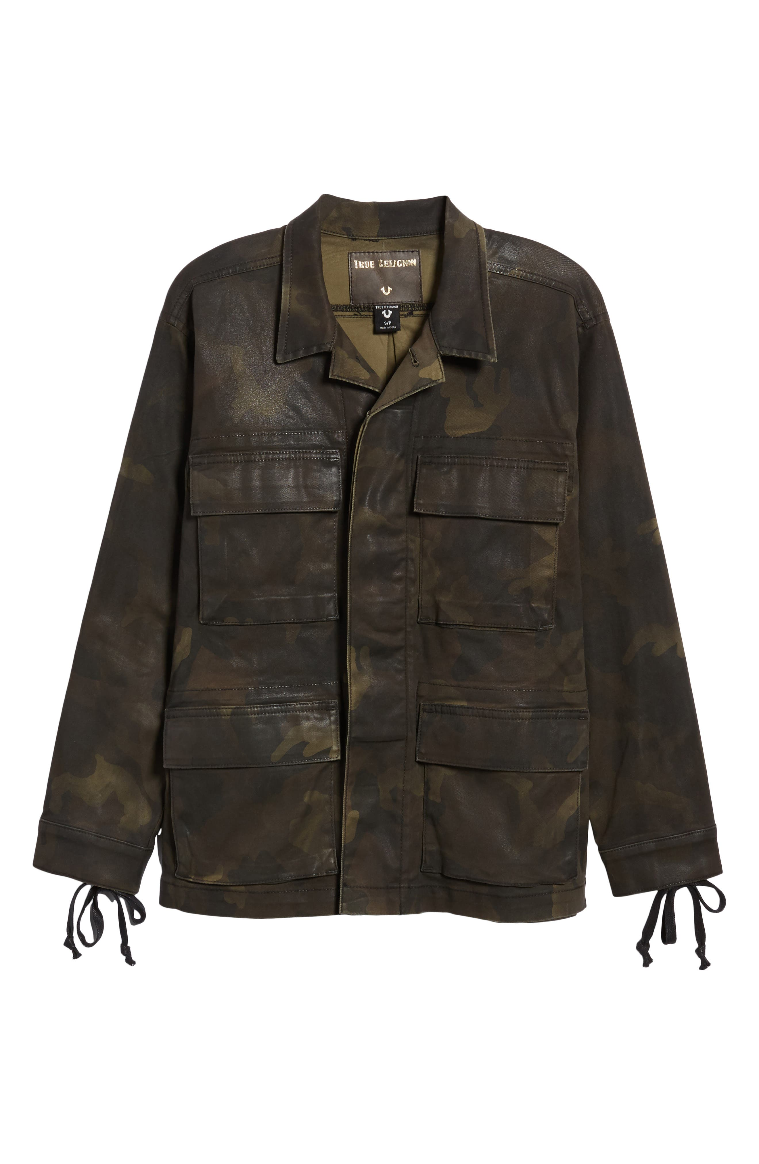 TRUE RELIGION BRAND JEANS,                             Coated Military Jacket,                             Alternate thumbnail 5, color,                             300