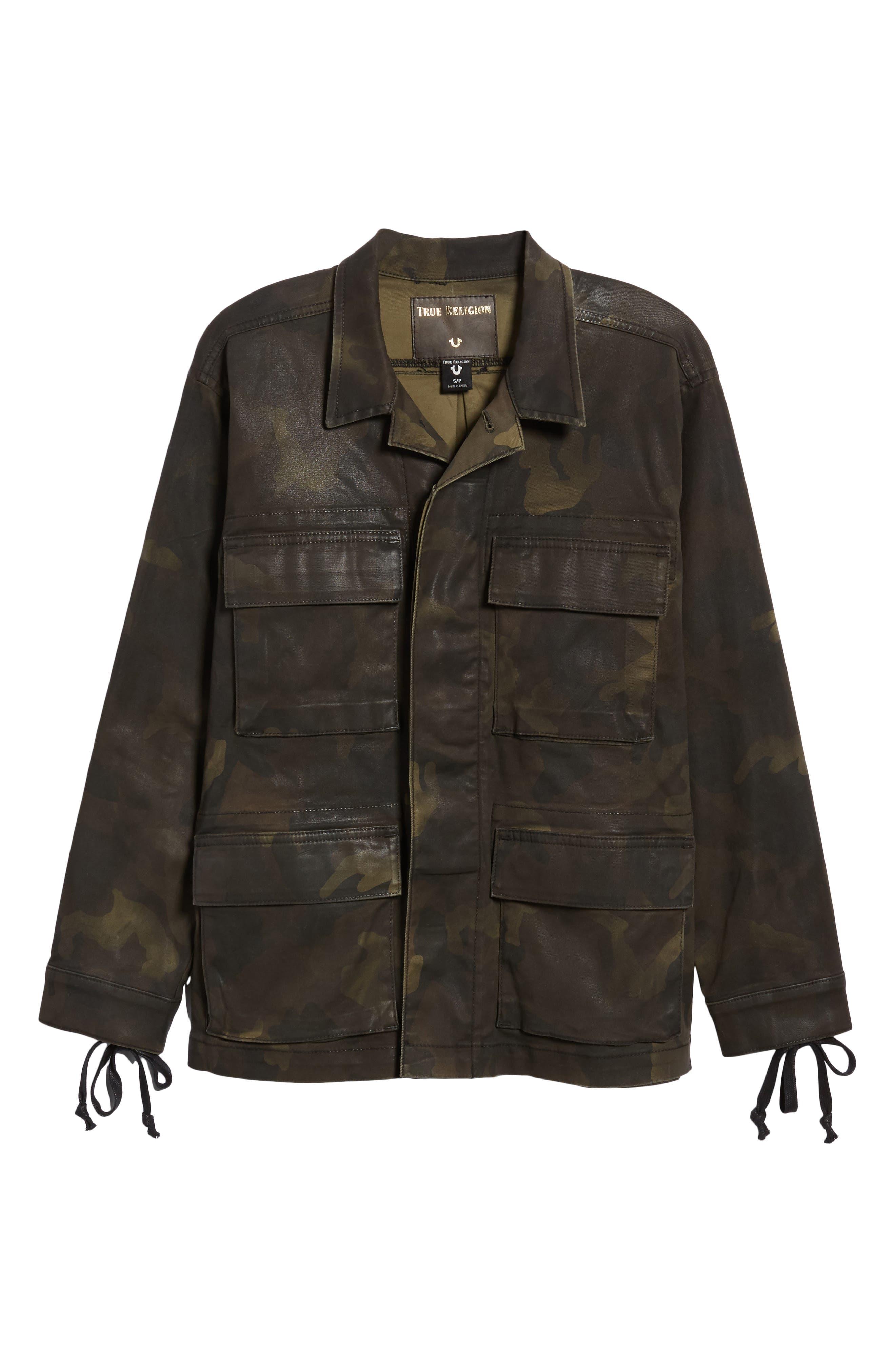 Coated Military Jacket,                             Alternate thumbnail 5, color,                             300