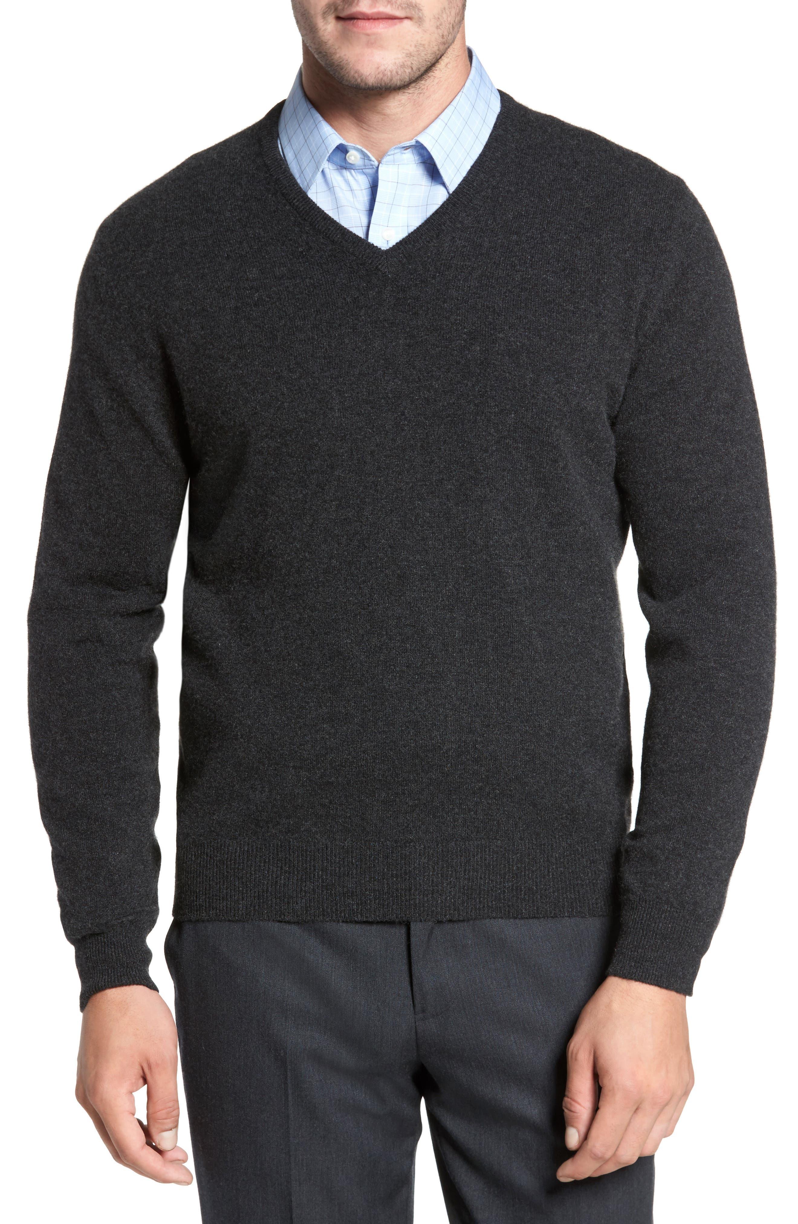 Cashmere V-Neck Sweater,                         Main,                         color,