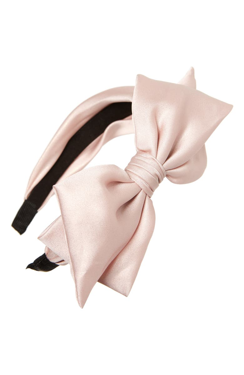 Shiny Sparkle Bow Headband,                         Main,                         color, PINK