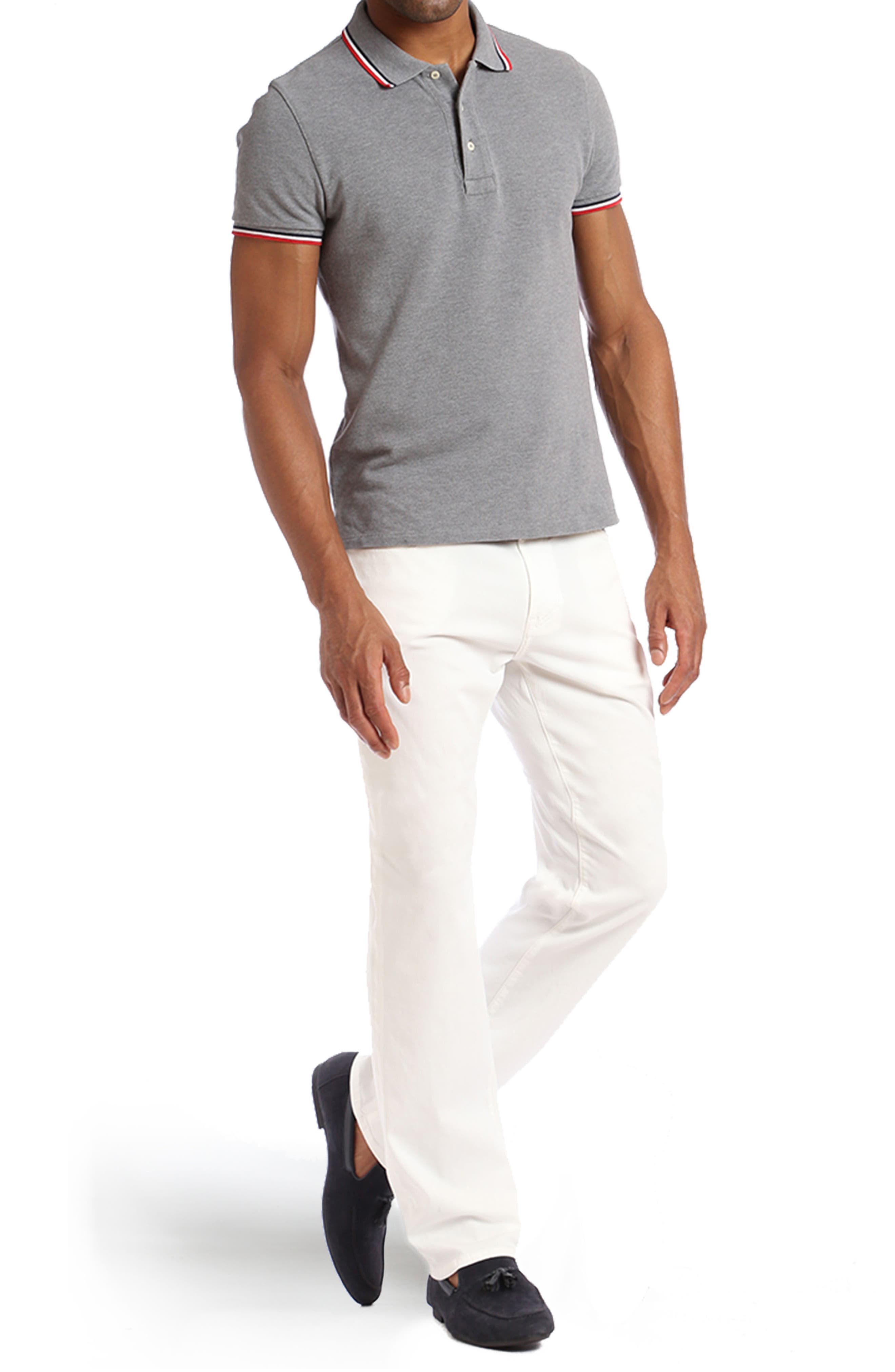 Charisma Relaxed Fit Jeans,                             Alternate thumbnail 4, color,                             NATURAL FINE TWILL