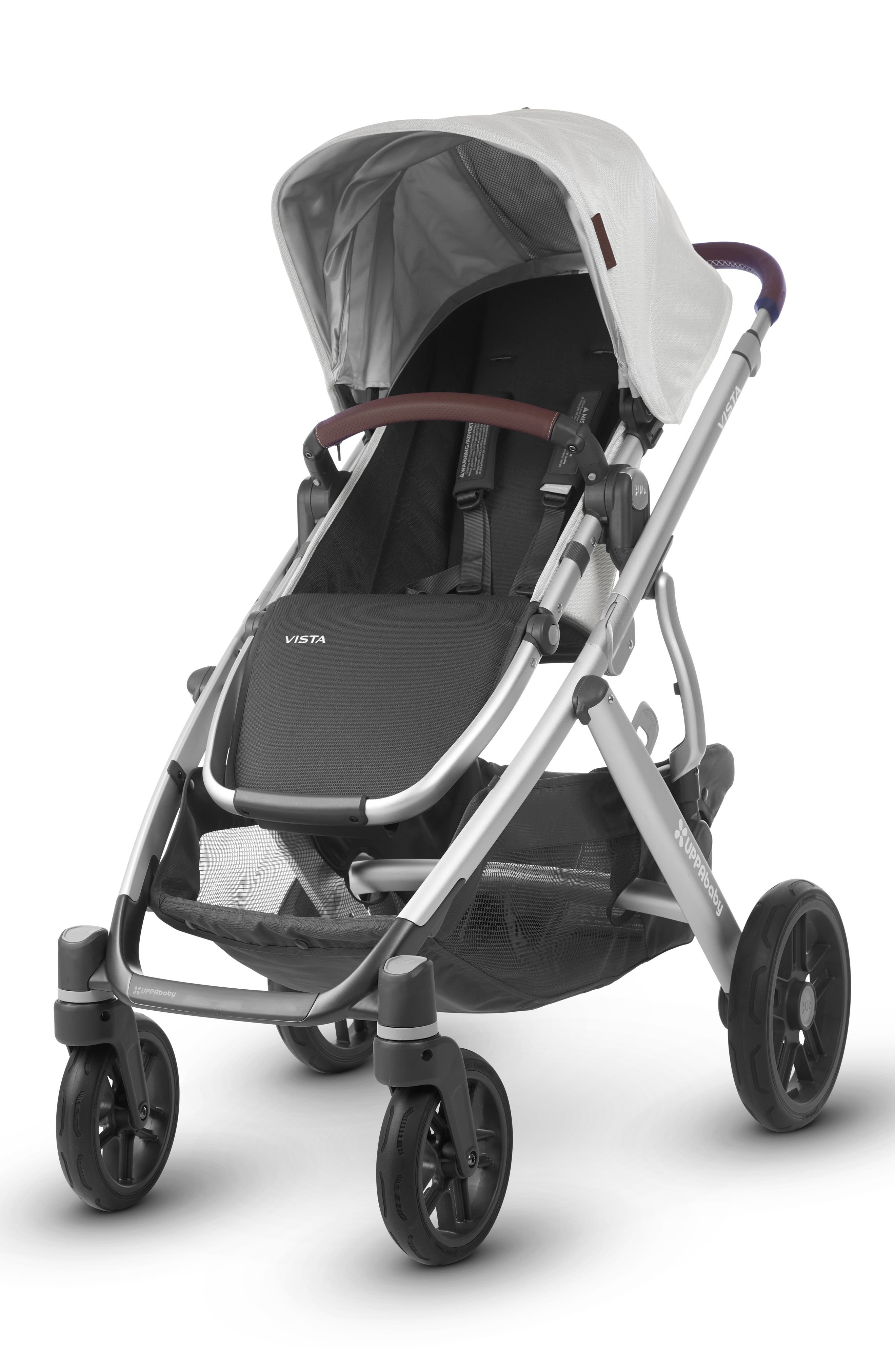 2018 VISTA Aluminum Frame Convertible Complete Stroller with Leather Trim,                             Main thumbnail 1, color,                             BRYCE
